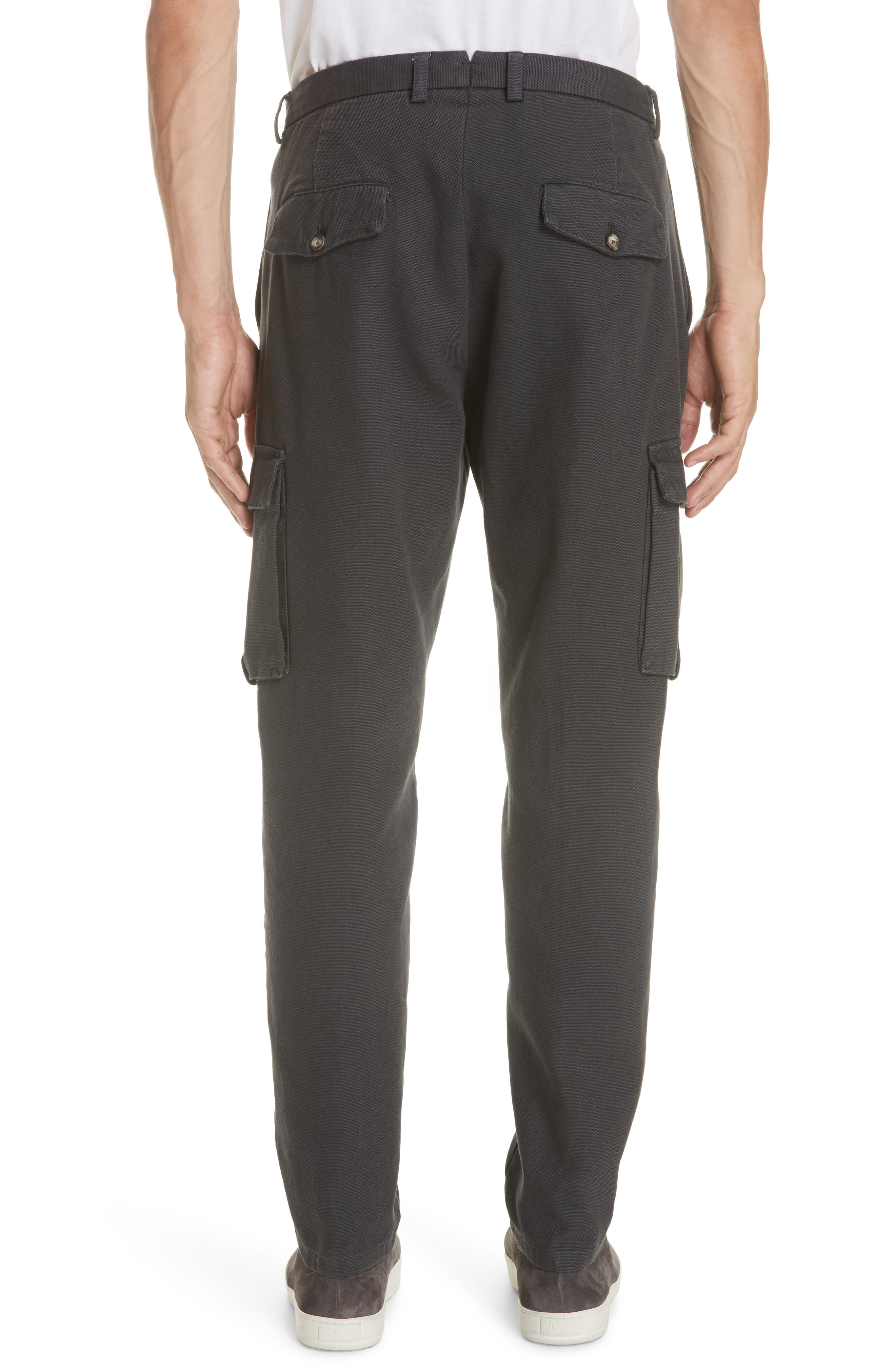 Stretch Canvas Cargo Pants,                             Alternate thumbnail 2, color,                             CHARCOAL