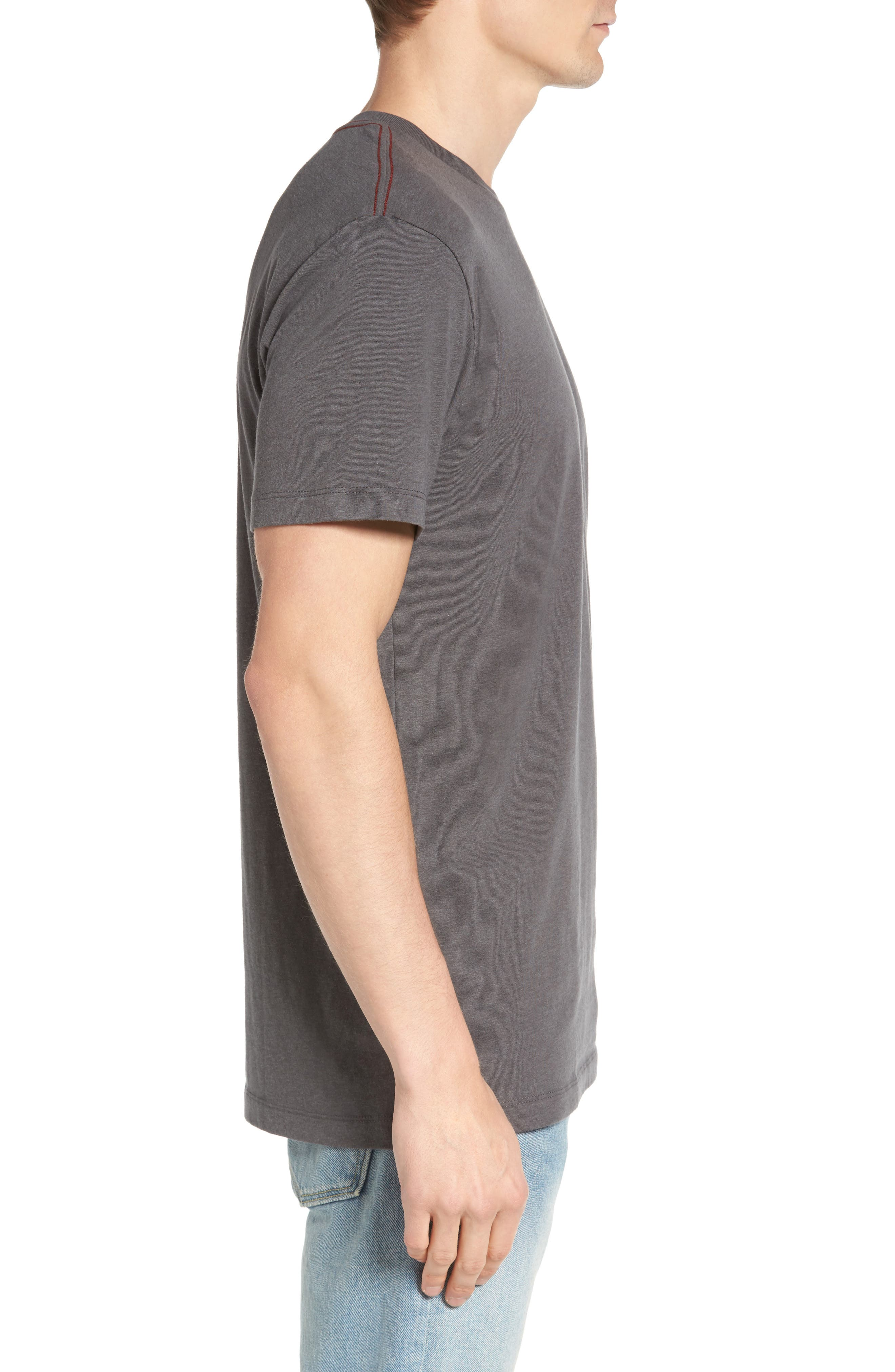 Small RVCA Chest Graphic T-Shirt,                             Alternate thumbnail 3, color,                             076
