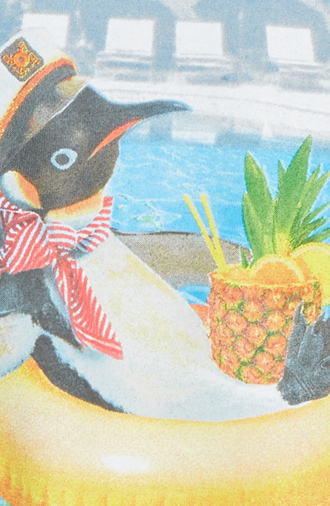 Penguin Vacation Graphic T-Shirt,                             Alternate thumbnail 2, color,                             410