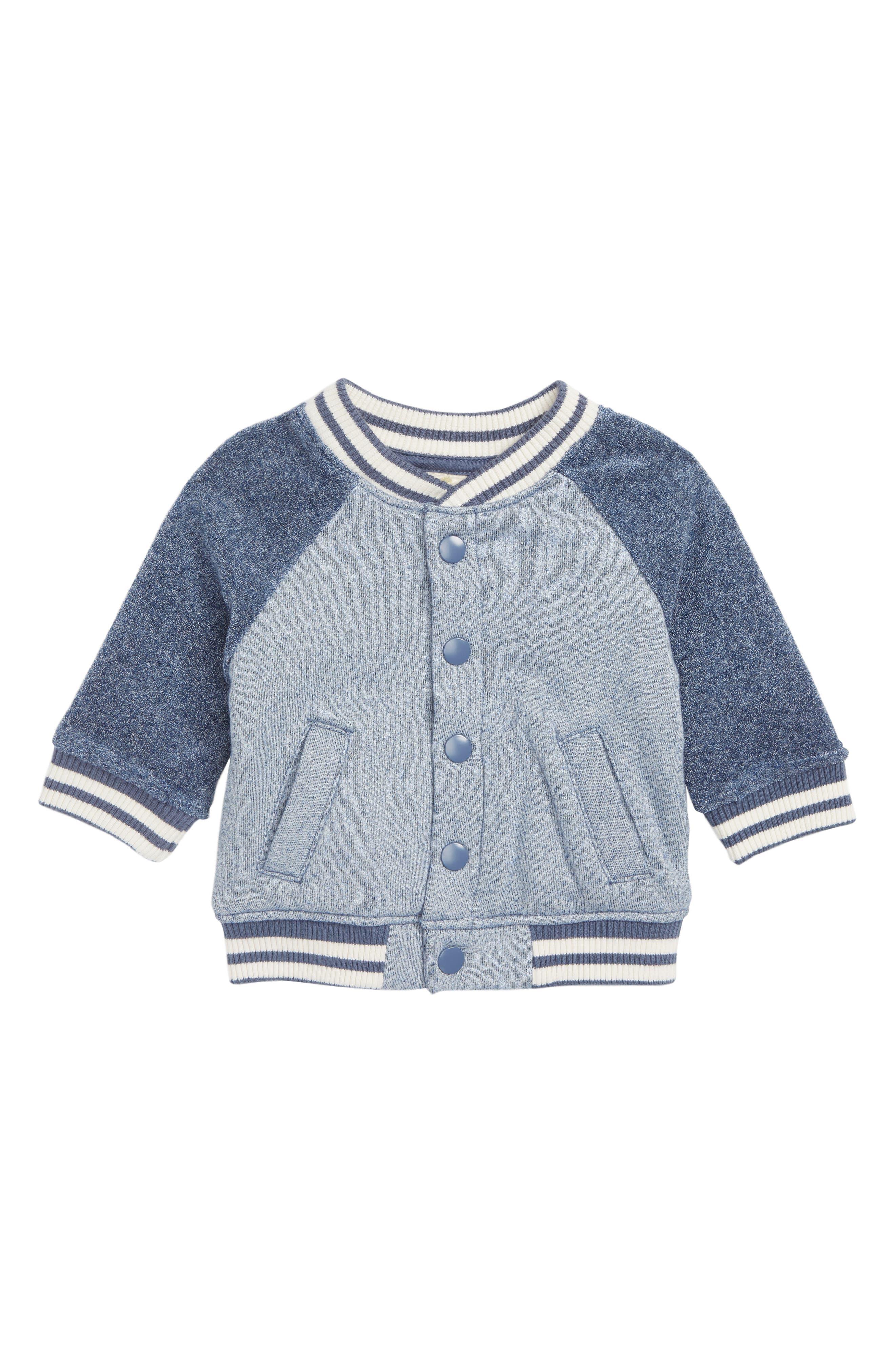 Novelty Varsity Jacket,                         Main,                         color, NAVY DENIM