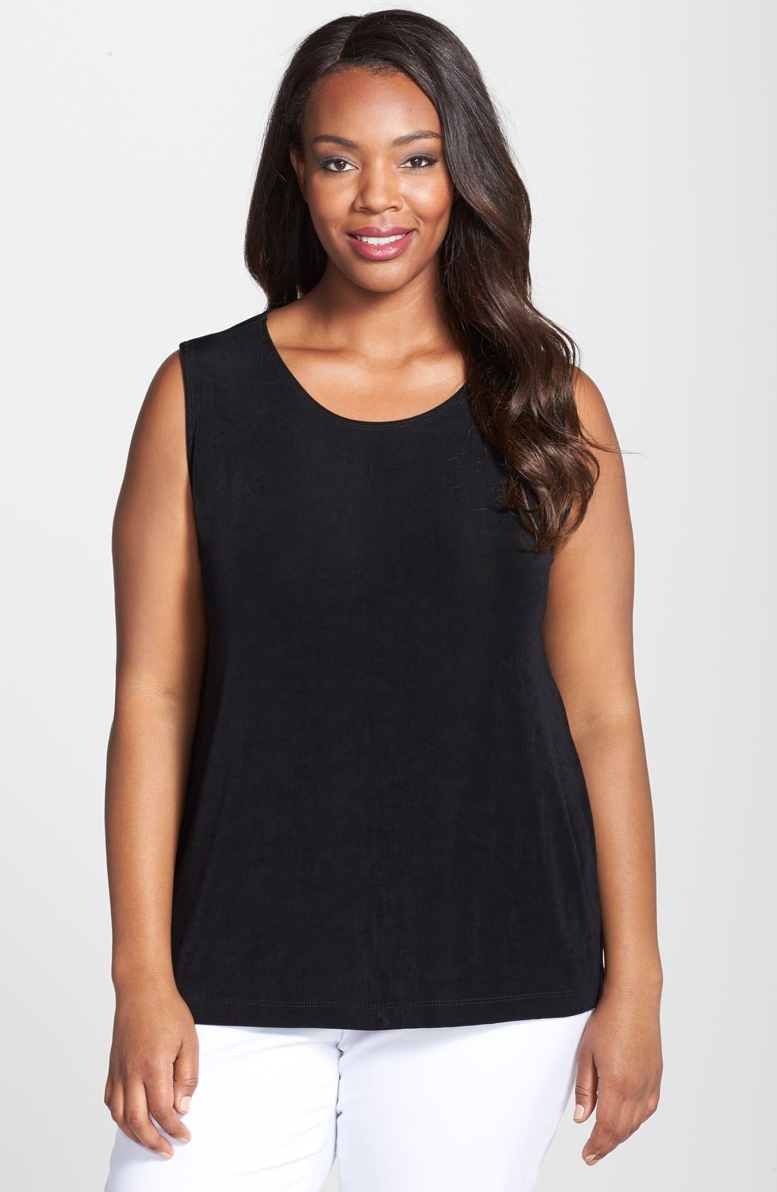 Tank Top,                         Main,                         color, BLACK