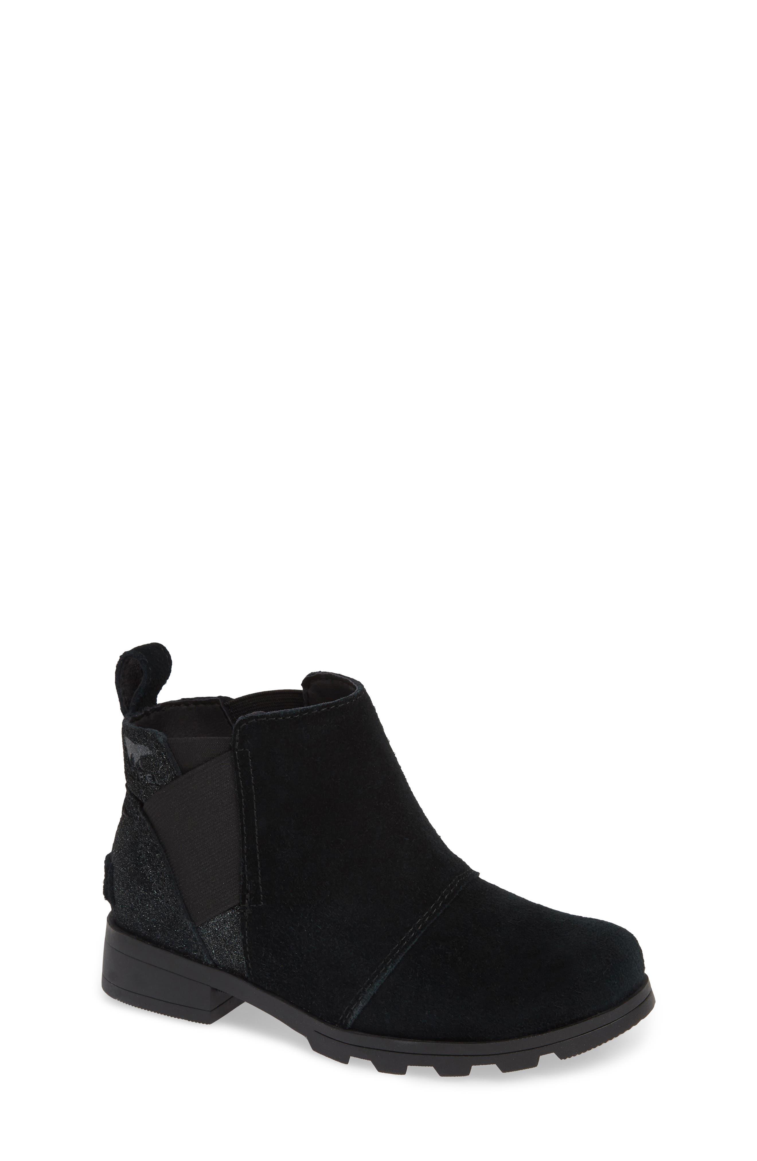 Emelie Waterproof Chelsea Boot,                             Main thumbnail 1, color,                             BLACK