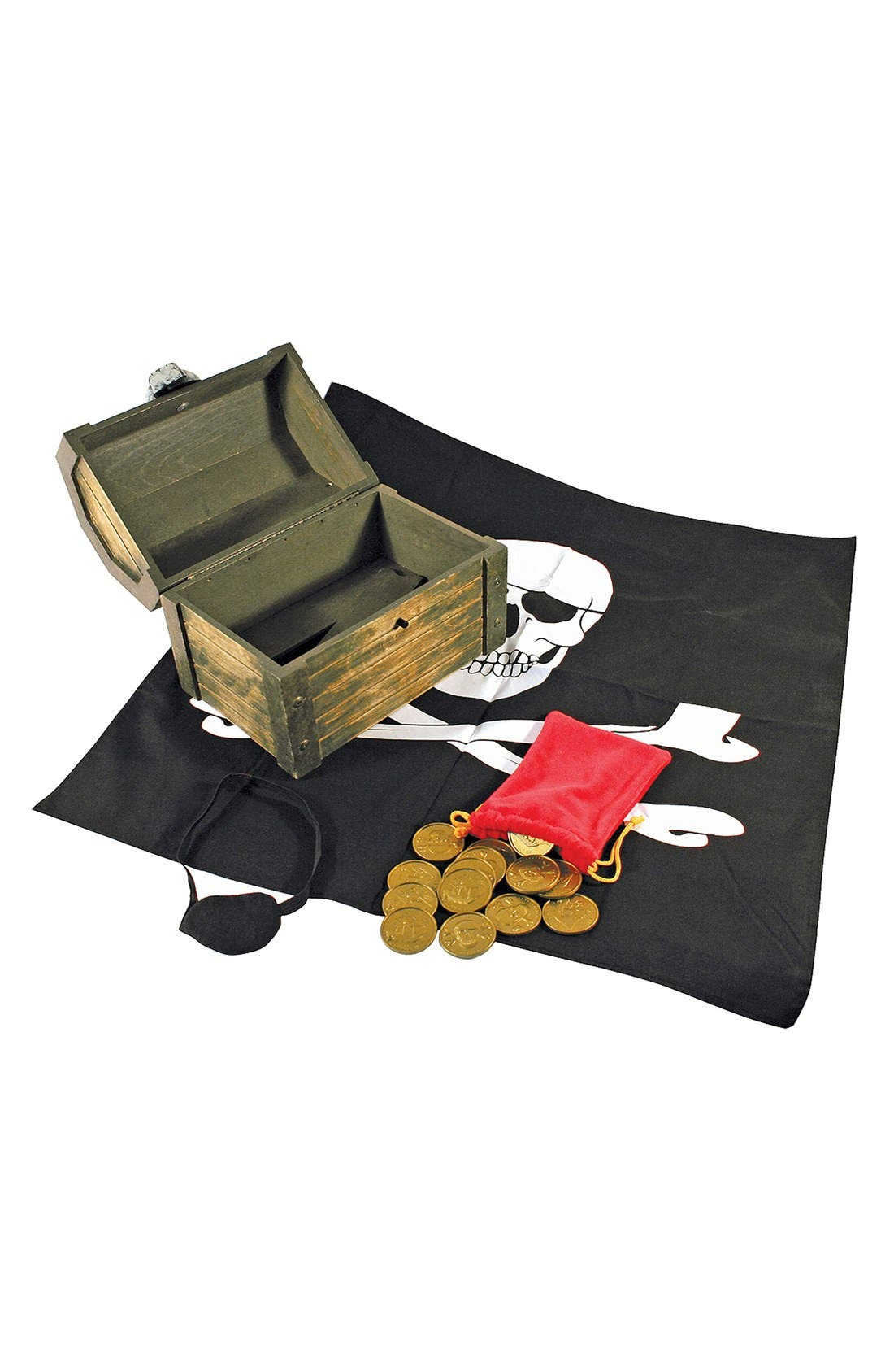 Personalized Pirate Chest,                             Main thumbnail 1, color,                             BLACK