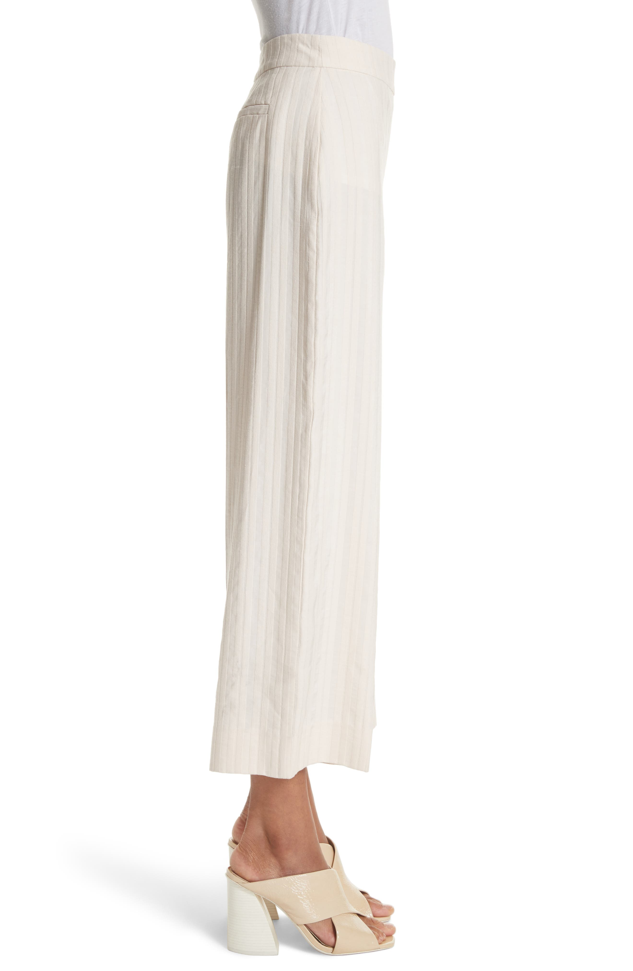 Textured Stripe Crop Pants,                             Alternate thumbnail 3, color,