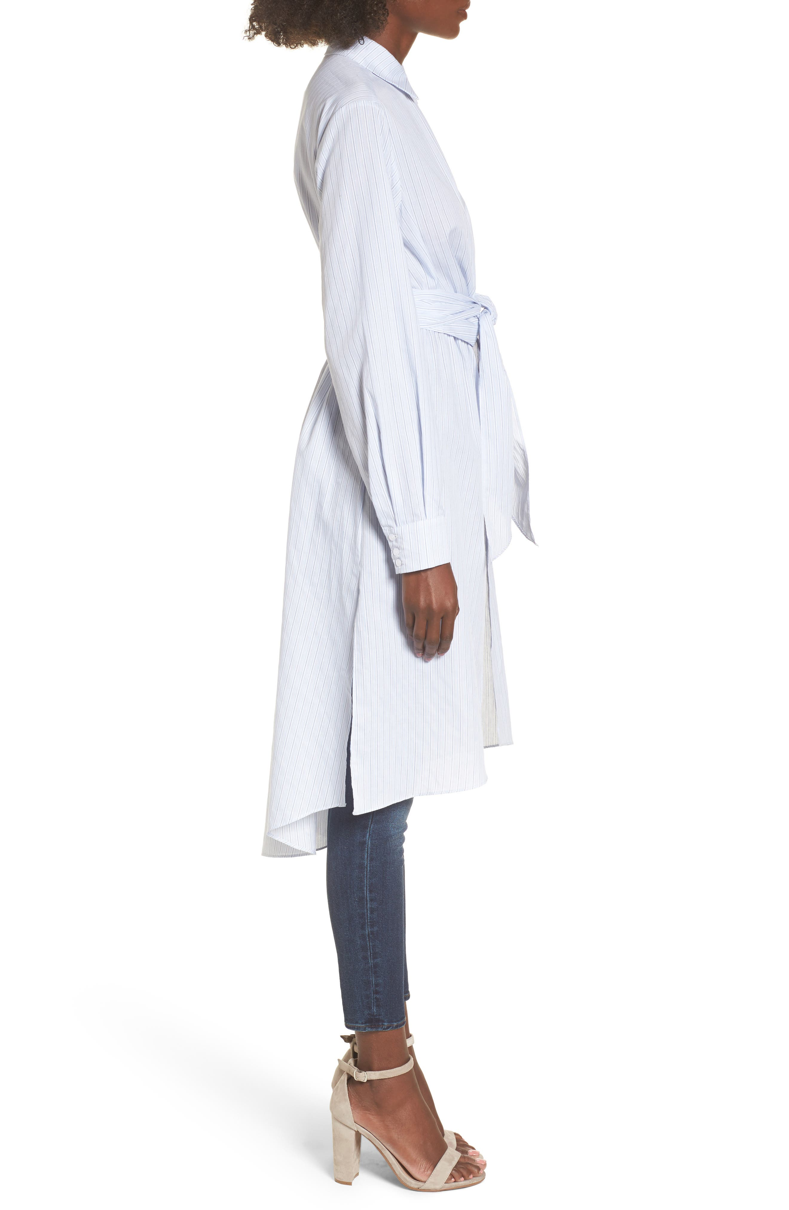 Poplin Wrap Tunic,                             Alternate thumbnail 6, color,