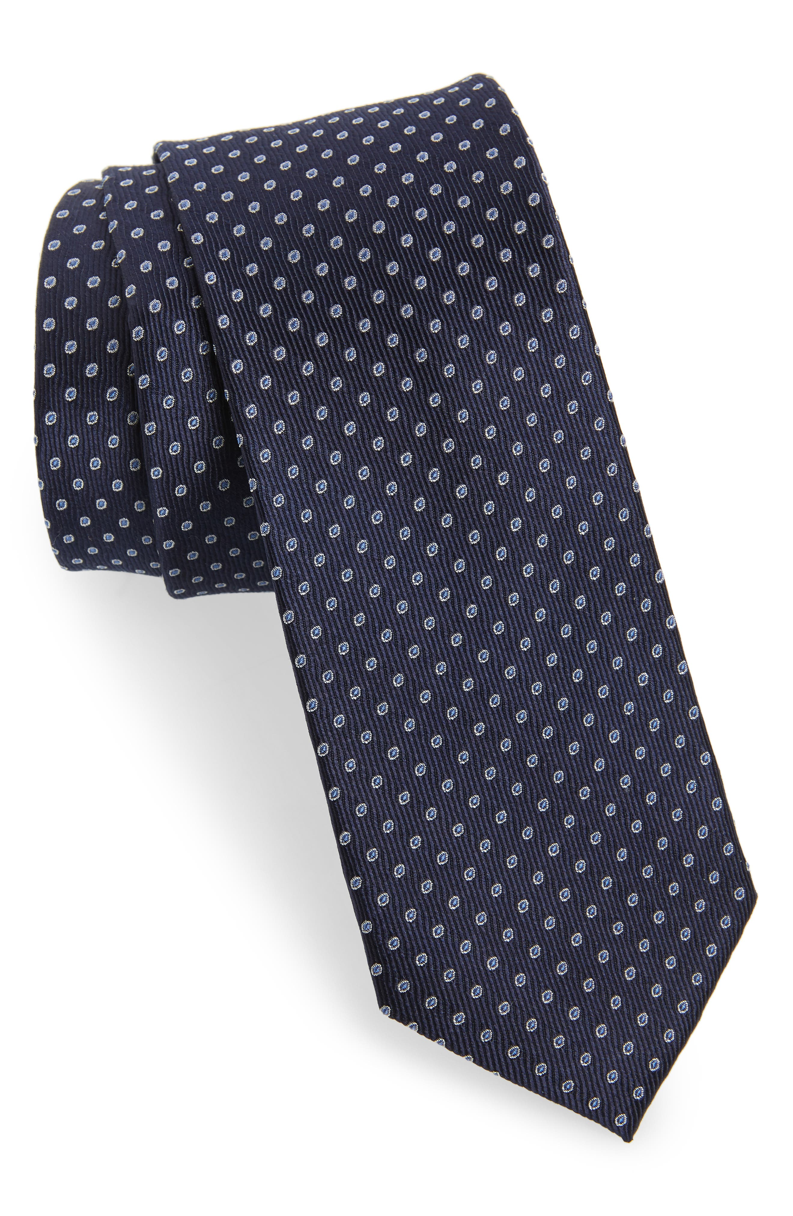 Newport Dot Silk Tie,                             Main thumbnail 4, color,