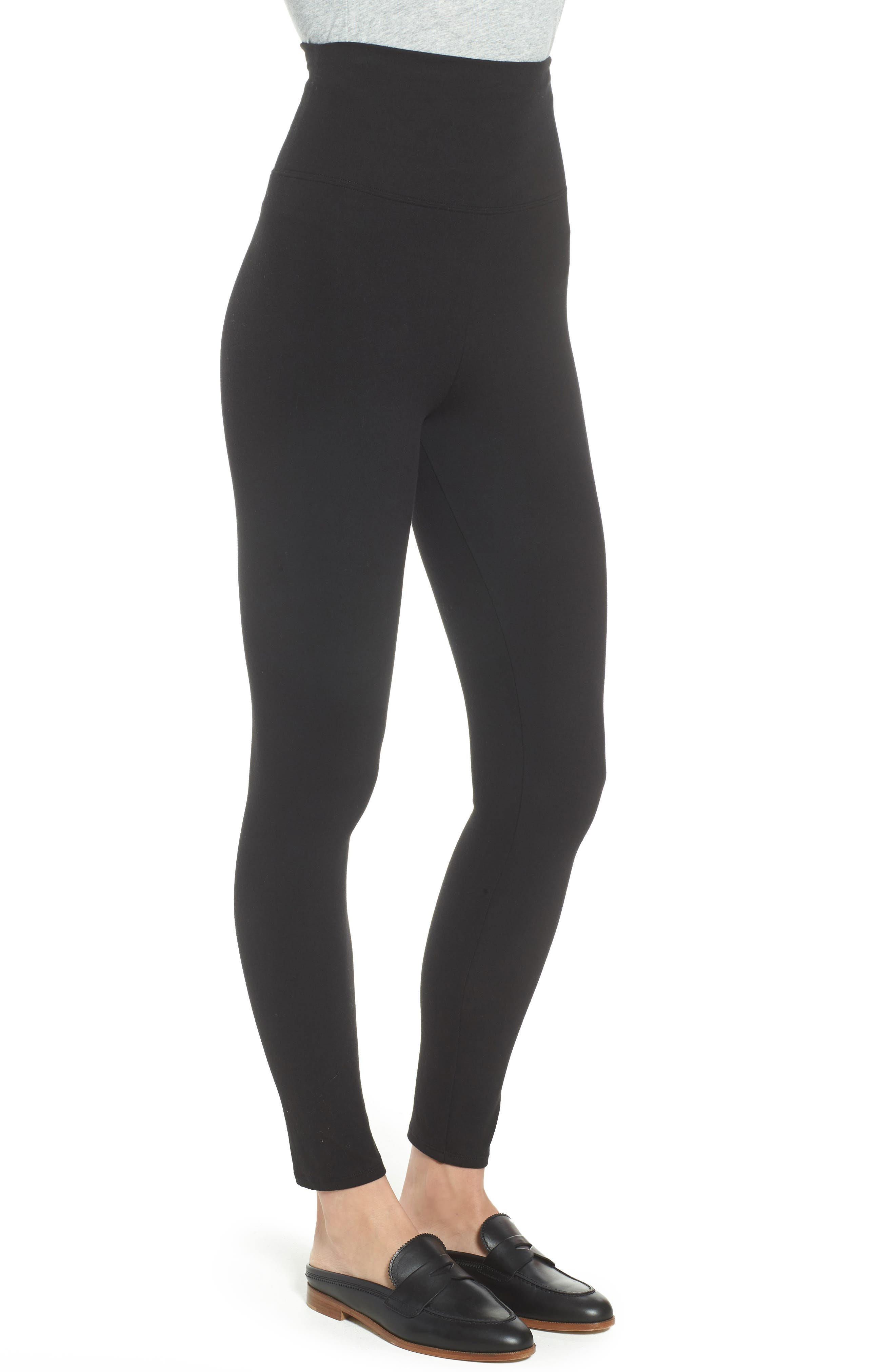 Go-To High Waist Leggings,                             Alternate thumbnail 3, color,                             BLACK