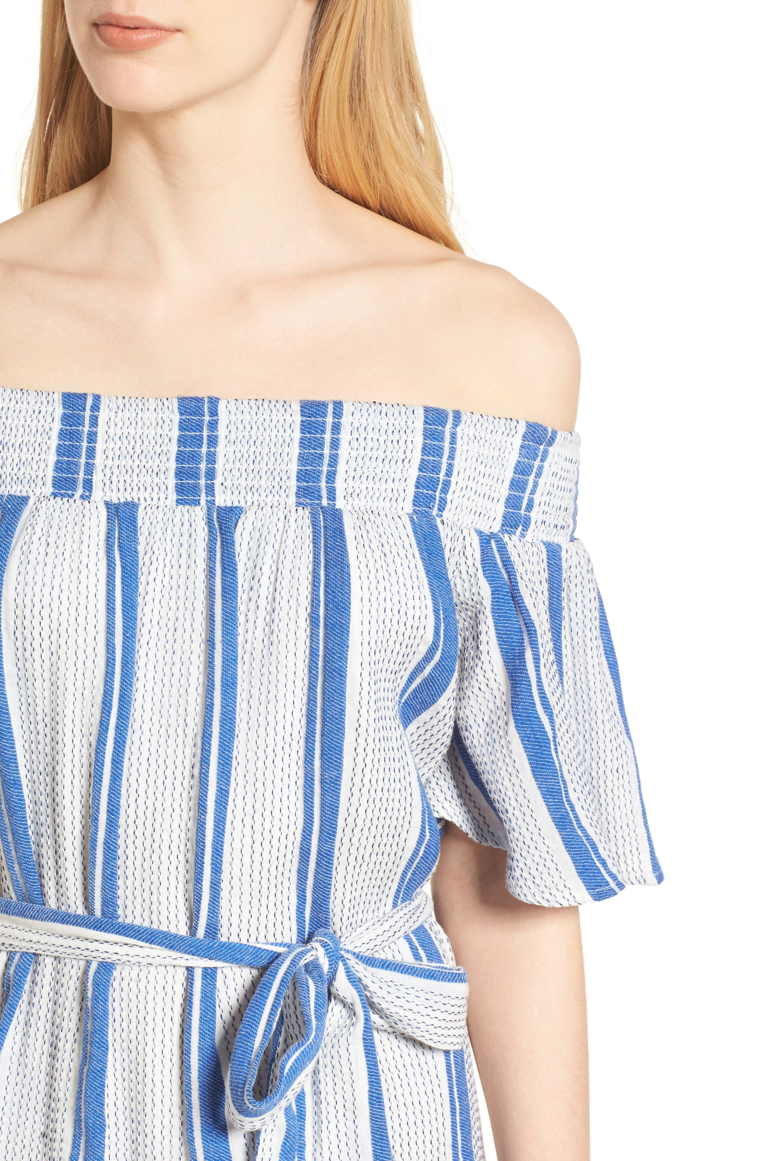 Bora Bora Tie Waist Dress,                             Alternate thumbnail 4, color,                             100