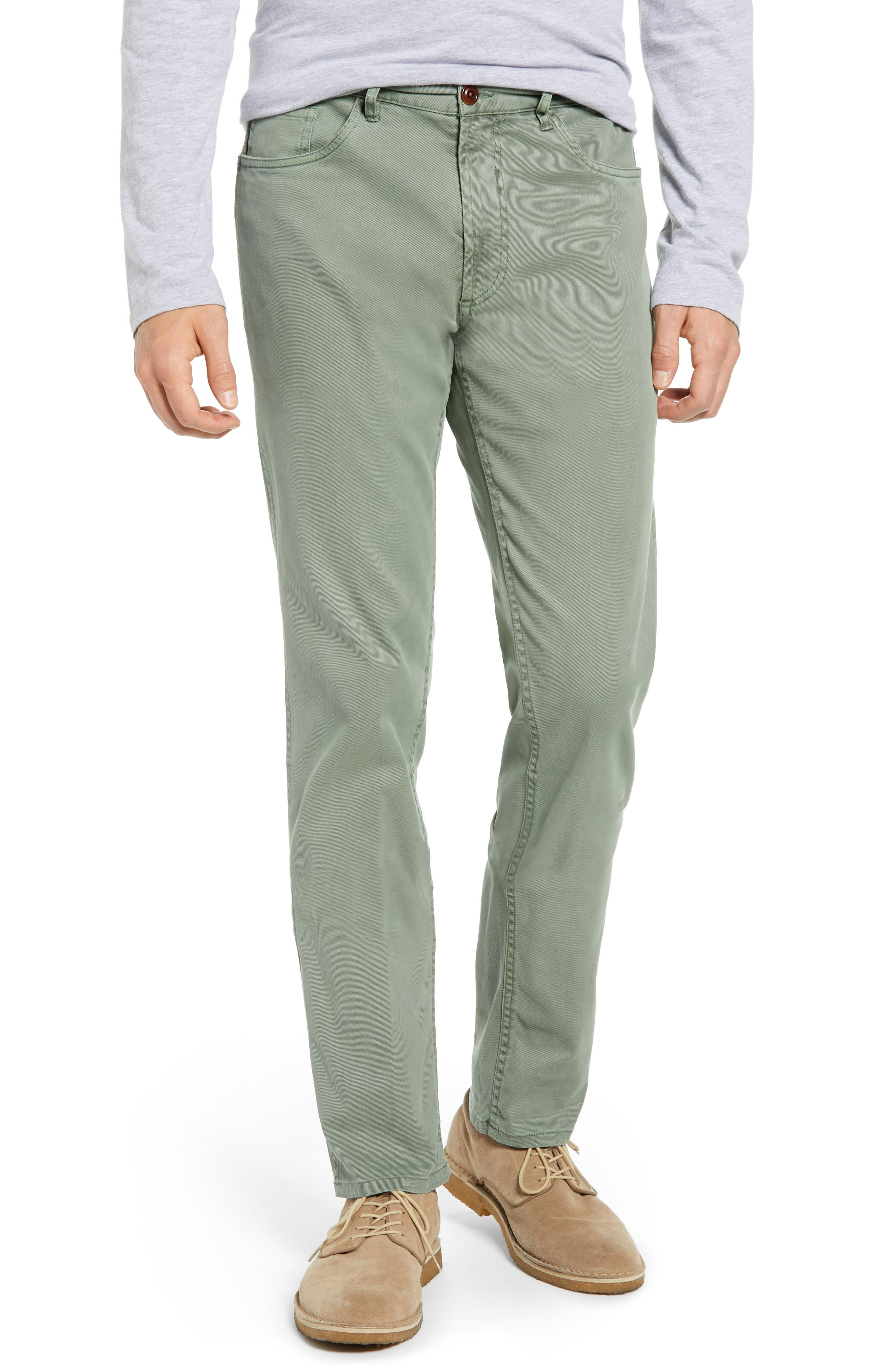 Faherty Comfort Twill Five-Pocket Pants, Green