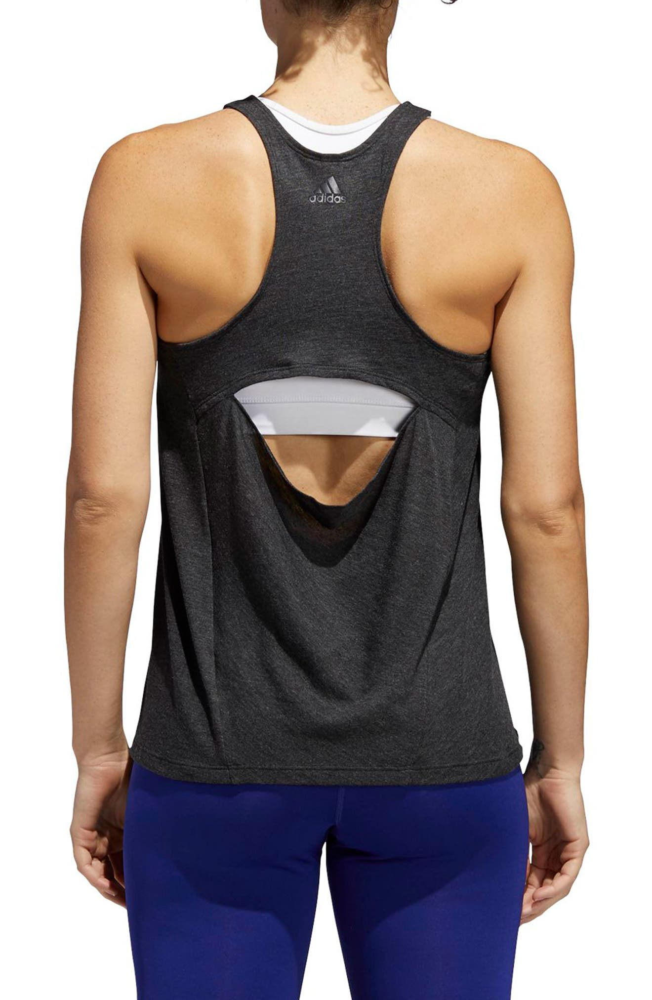 Performer Open Back Tank,                             Alternate thumbnail 4, color,