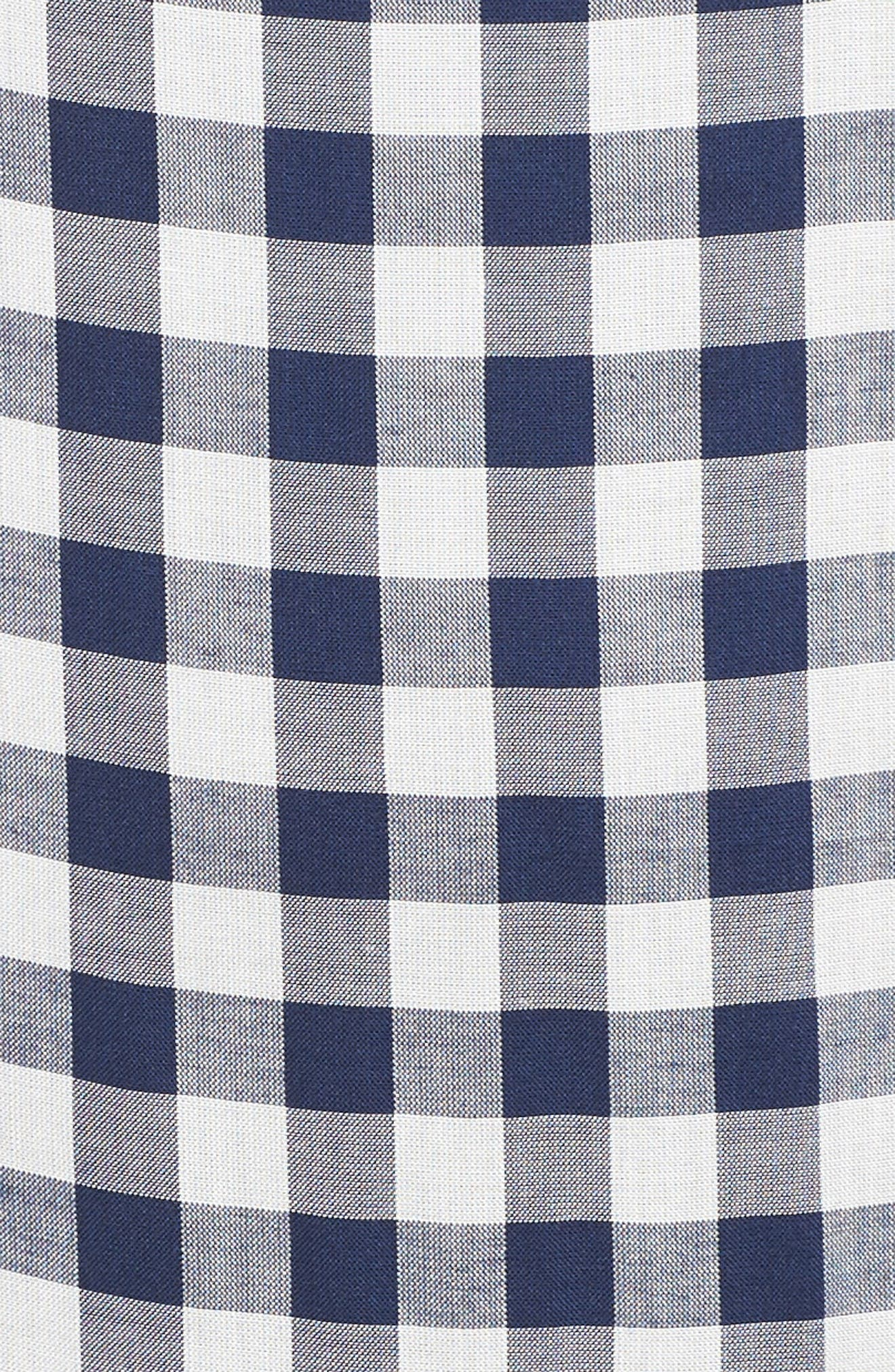Embroidered Check Shift Dress,                             Alternate thumbnail 6, color,                             411