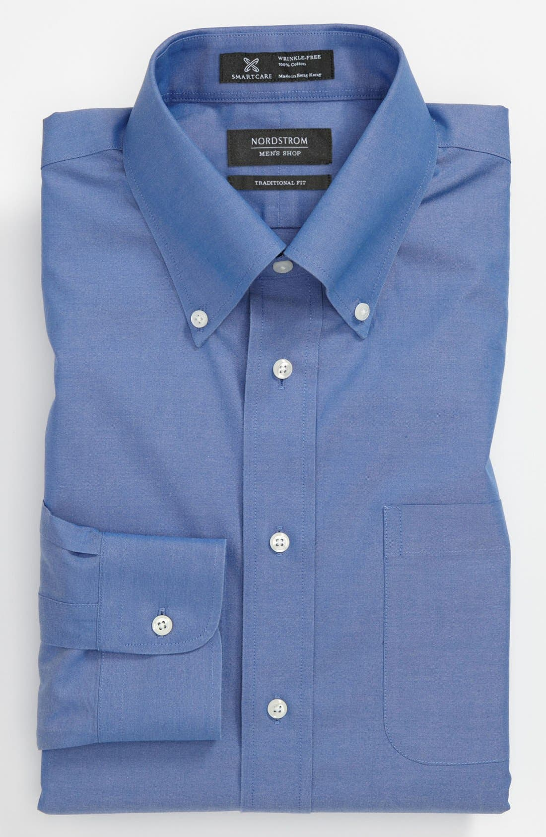 Smartcare<sup>™</sup> Traditional Fit Pinpoint Dress Shirt,                             Main thumbnail 18, color,
