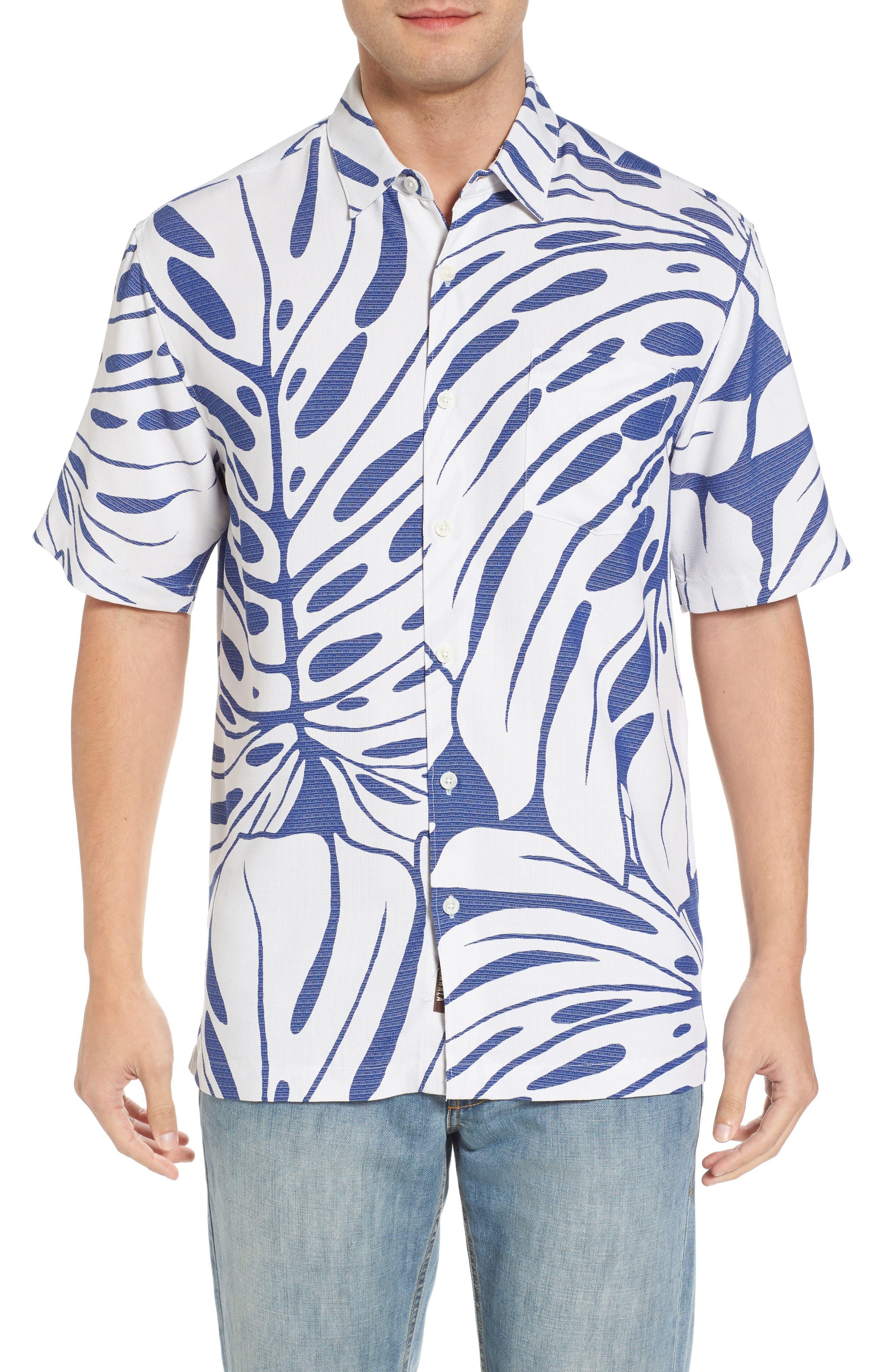 Syri's Leaf Classic Fit Print Sport Shirt,                             Main thumbnail 2, color,