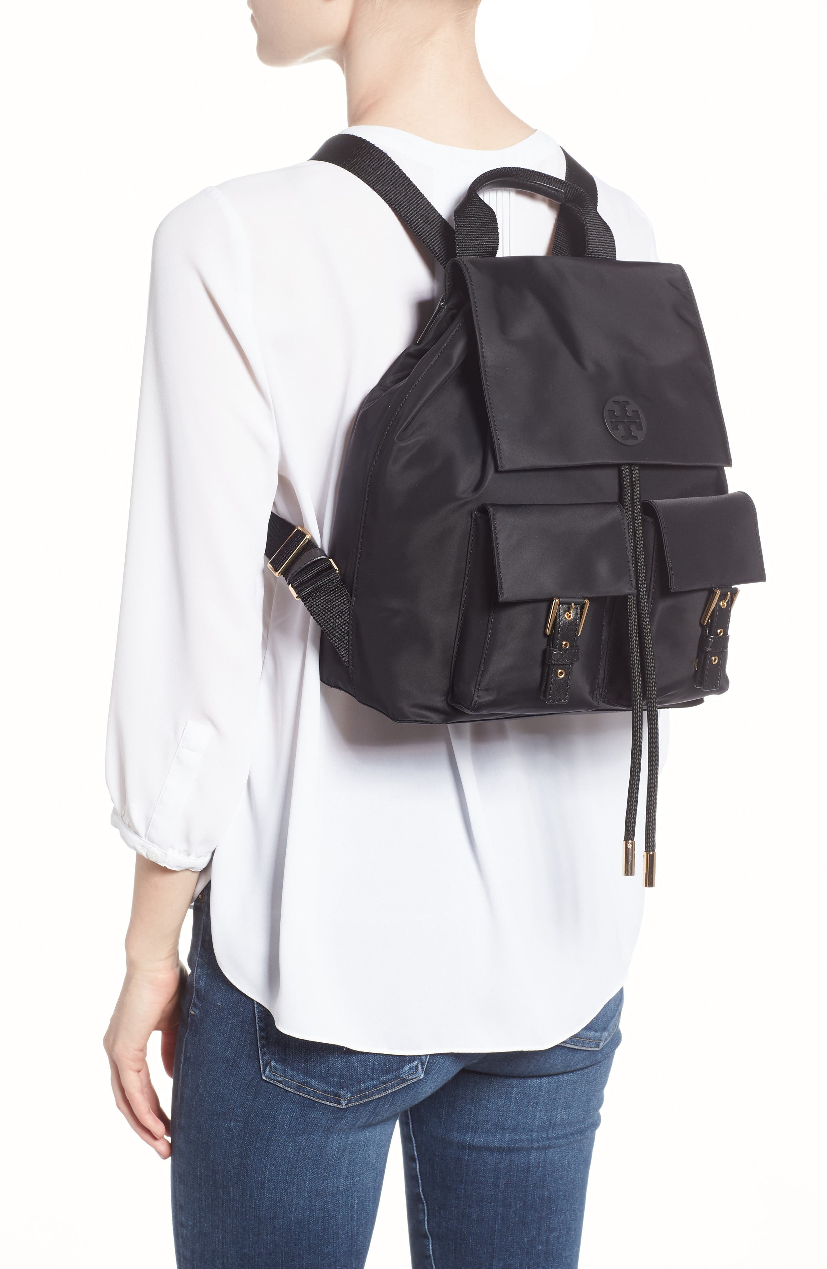 Tilda Nylon Backpack,                             Alternate thumbnail 2, color,                             BLACK