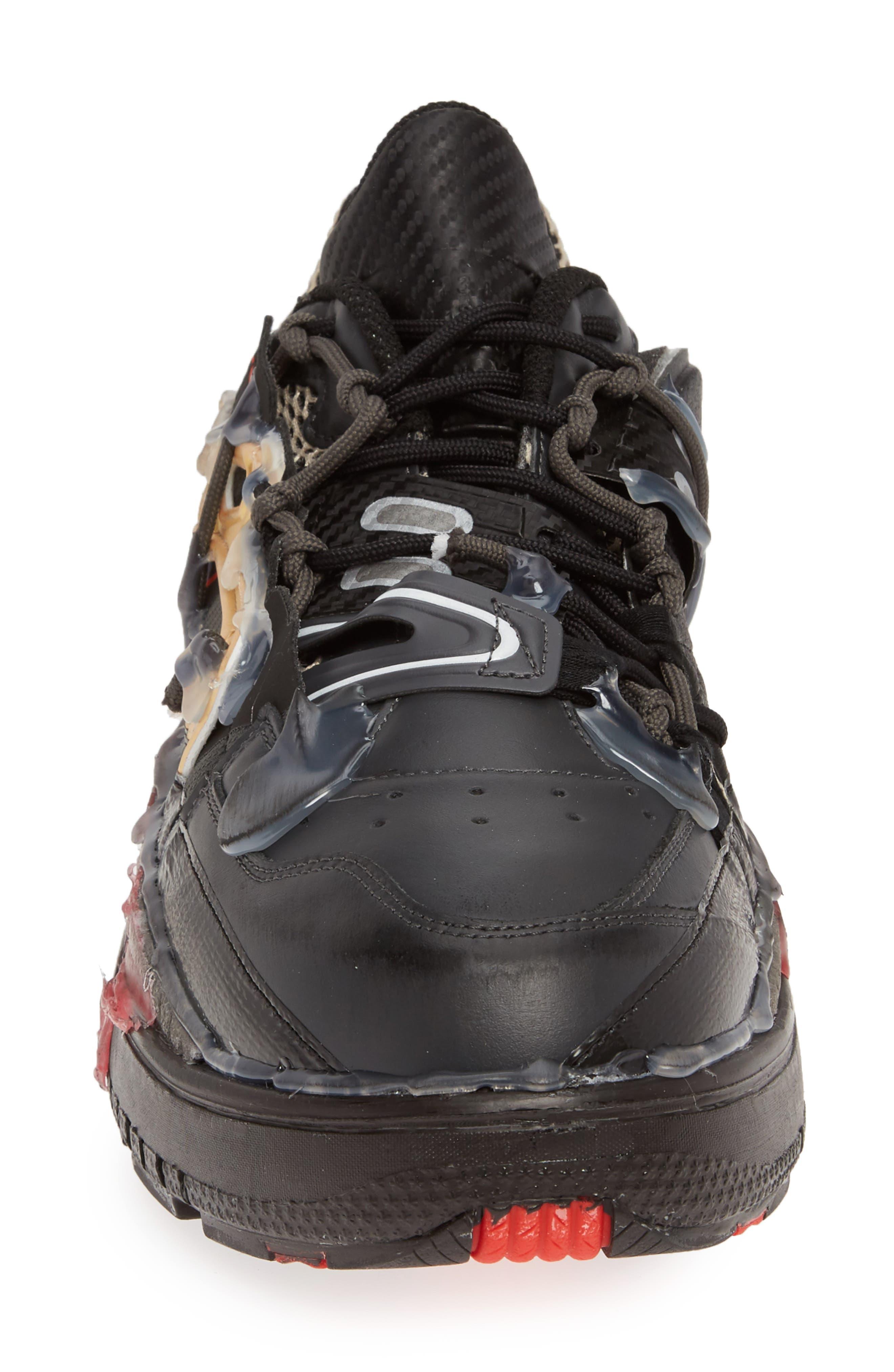 MM6 MAISON MARGIELA,                             Maison Margiela Fusion Sneaker,                             Alternate thumbnail 4, color,                             BLACK/ GOLD/ RED
