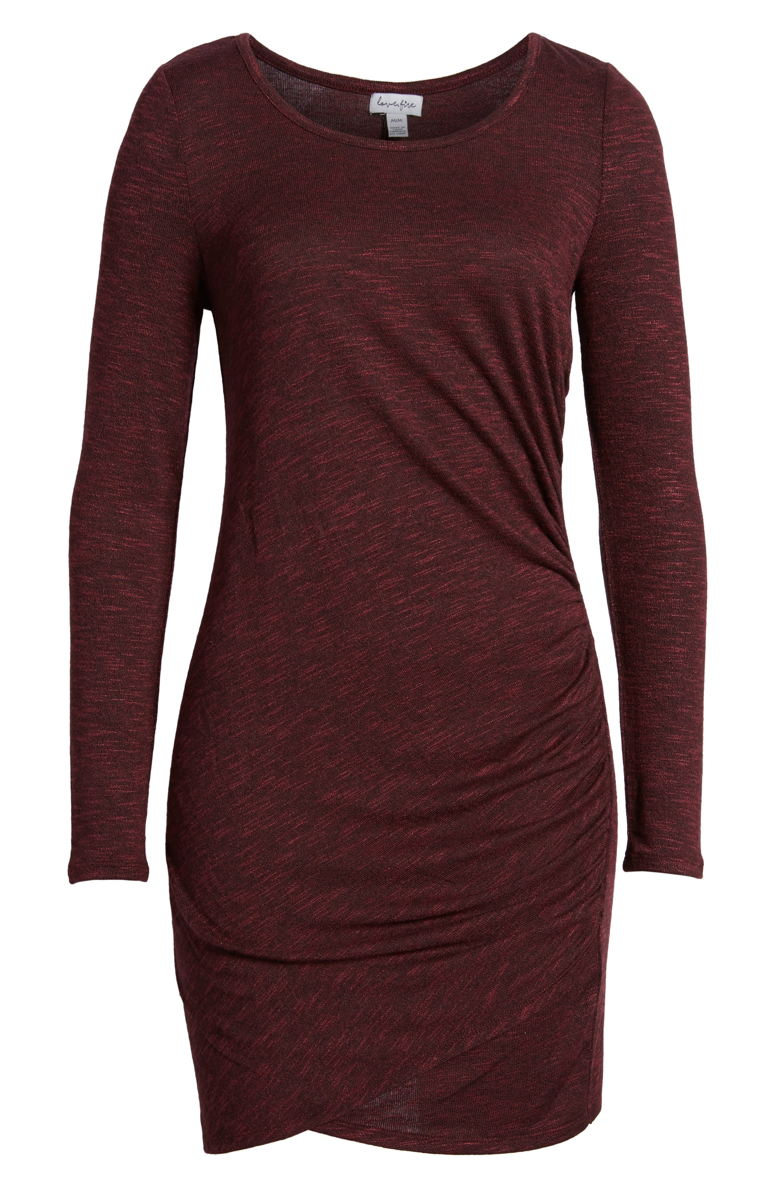 Ruched Knit Dress,                             Alternate thumbnail 12, color,