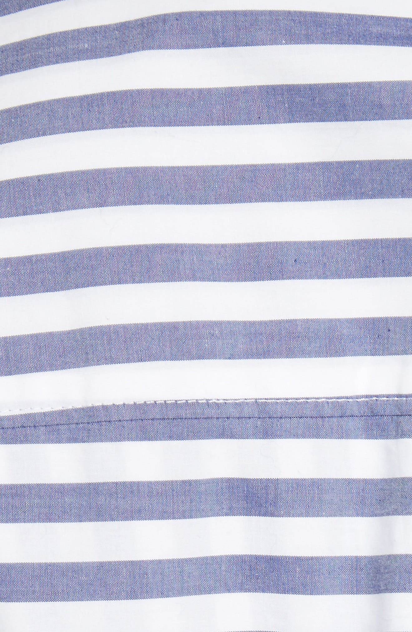Stripe Tie Front Shirtdress,                             Alternate thumbnail 5, color,