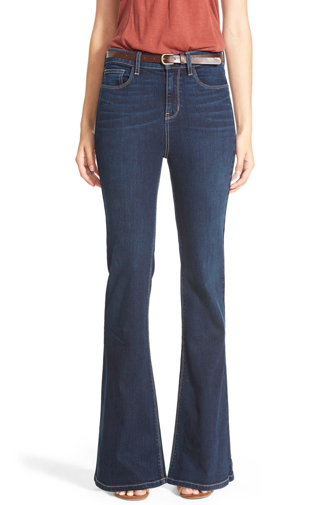 High Rise Flare Leg Jeans,                             Main thumbnail 1, color,                             400