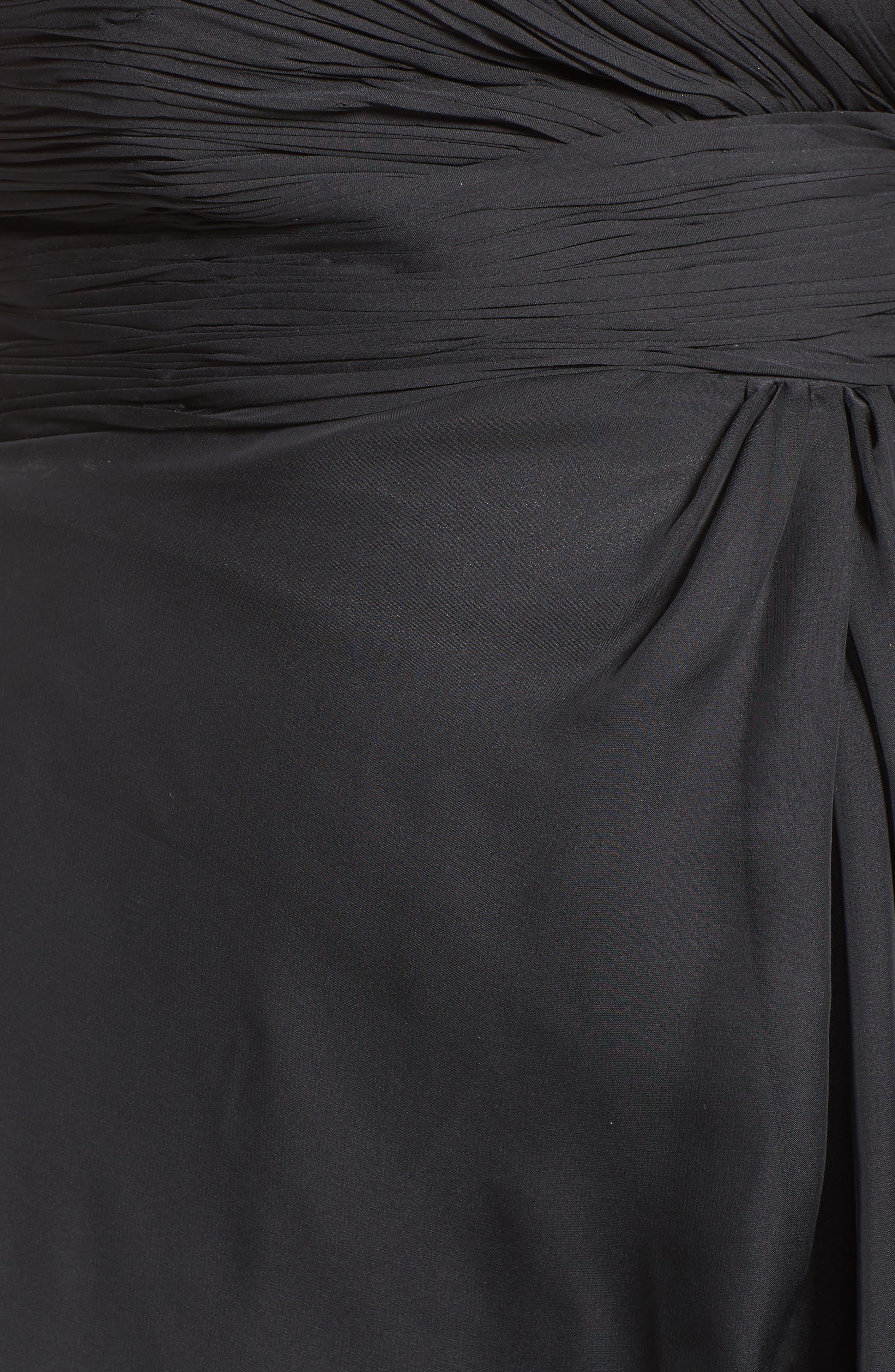 Embellished Goddess Gown,                             Alternate thumbnail 5, color,                             001