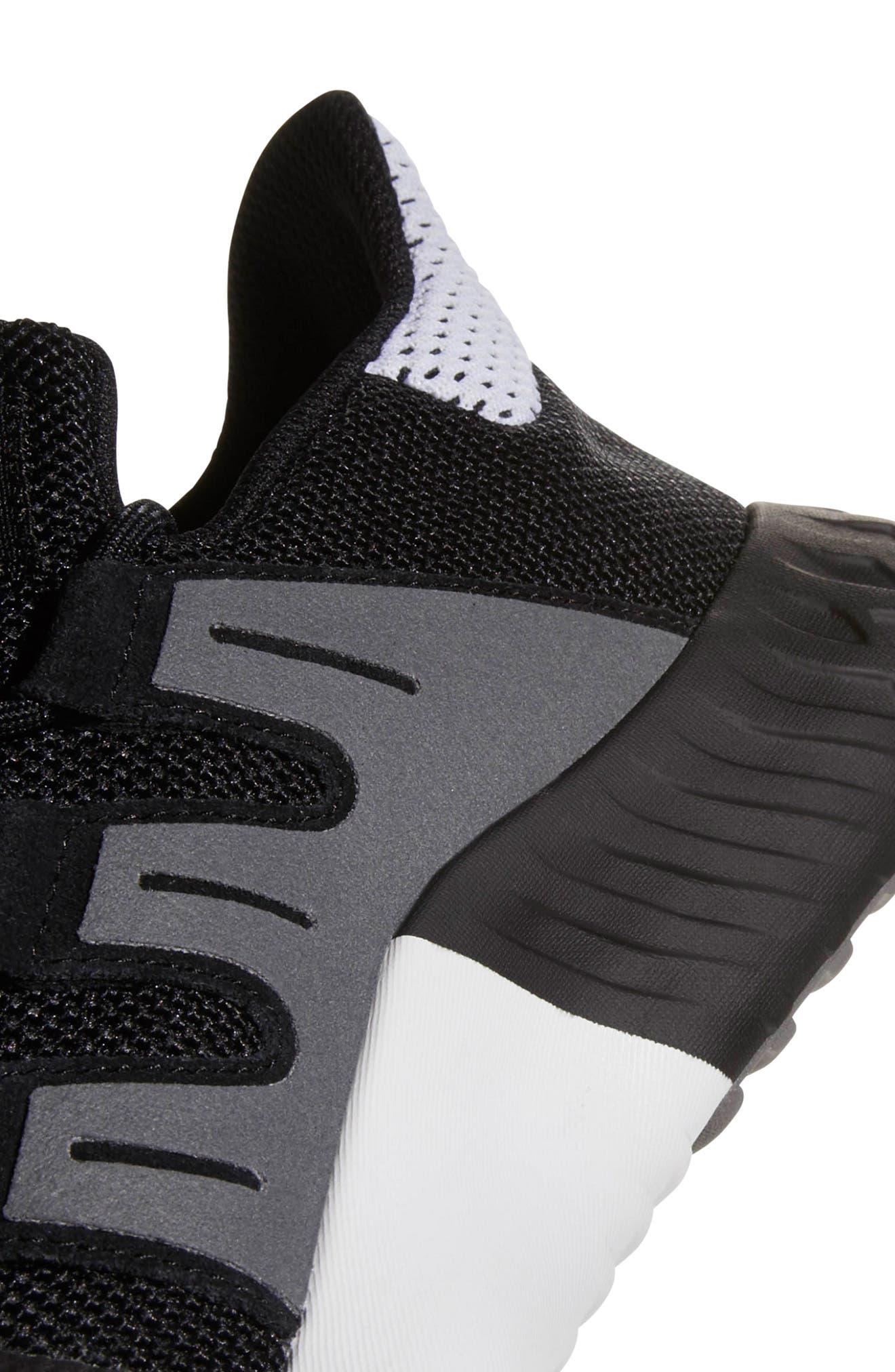 Tubular Dusk Primeknit Sneaker,                             Alternate thumbnail 7, color,                             WHITE/ BLACK/ GREY