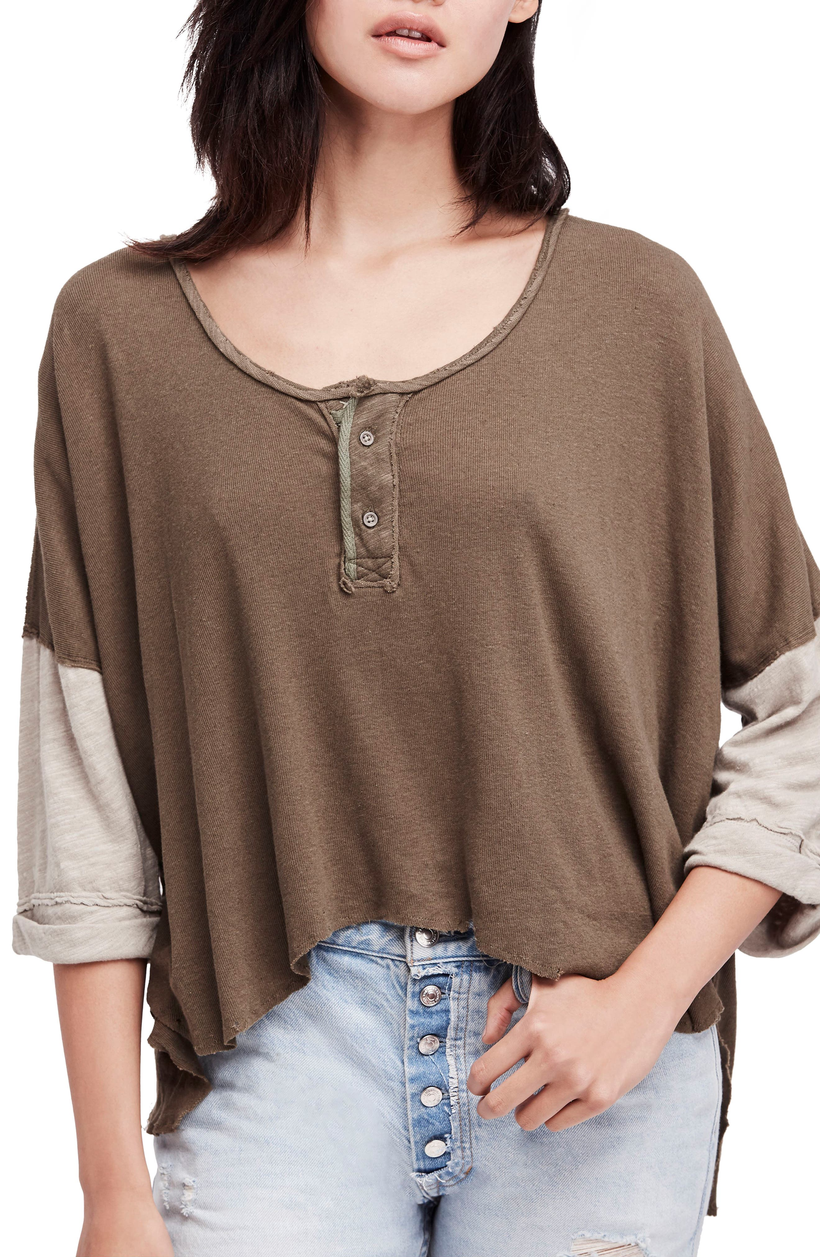 We the Free Star Henley Top,                             Main thumbnail 1, color,                             352