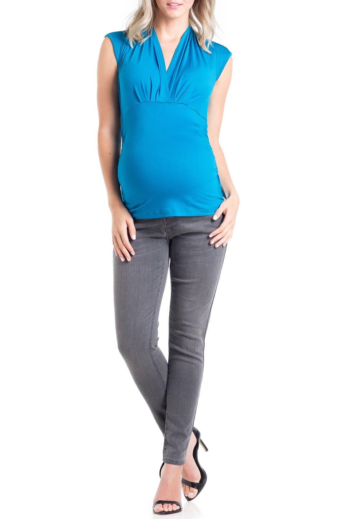 'Megan' V-Neck Maternity Top,                         Main,                         color,
