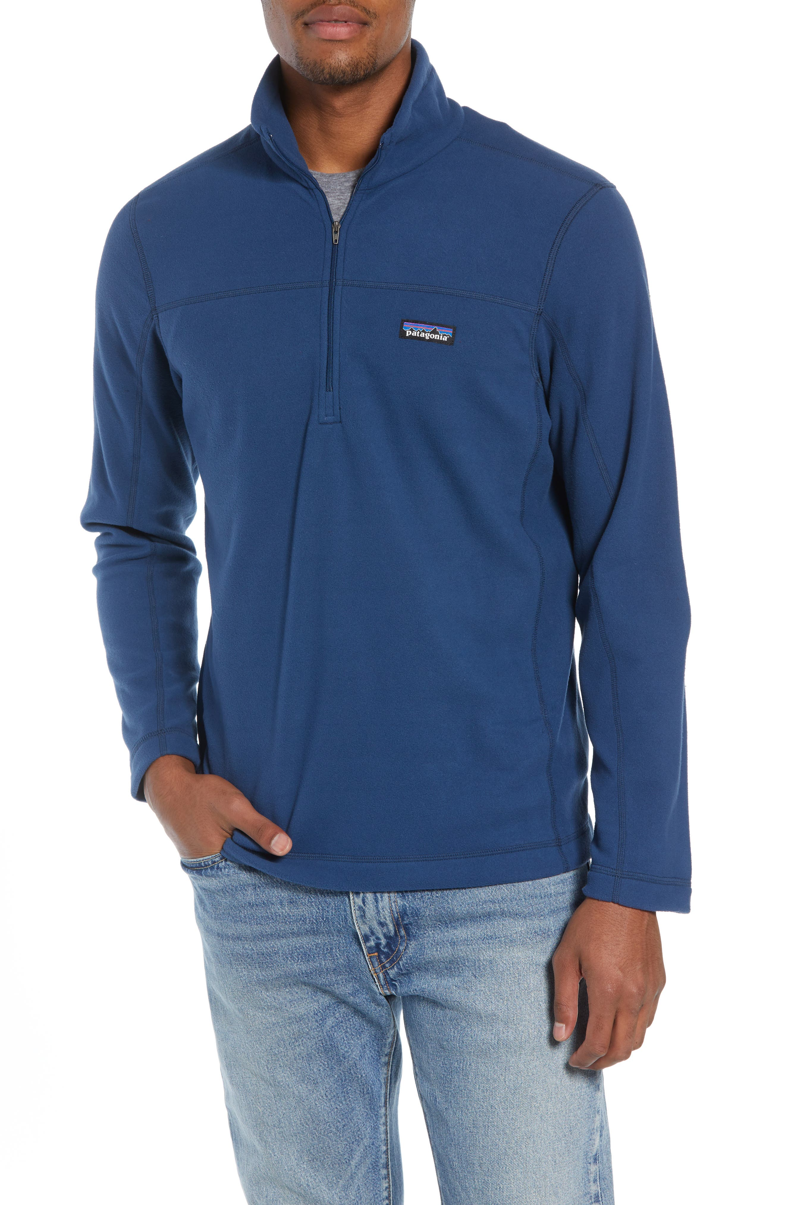 Fleece Pullover,                             Main thumbnail 1, color,                             STONE BLUE