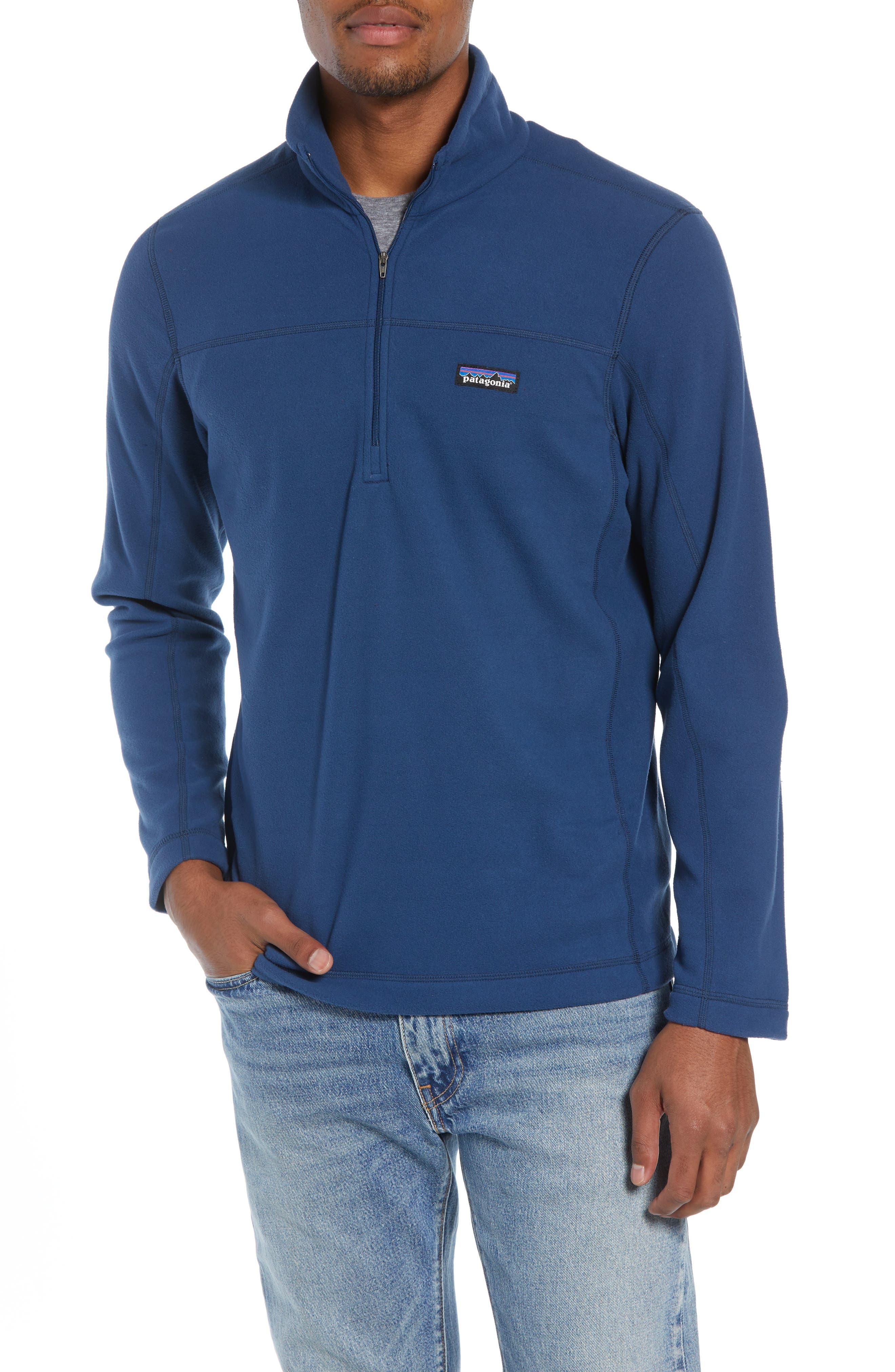 Fleece Pullover,                         Main,                         color, STONE BLUE