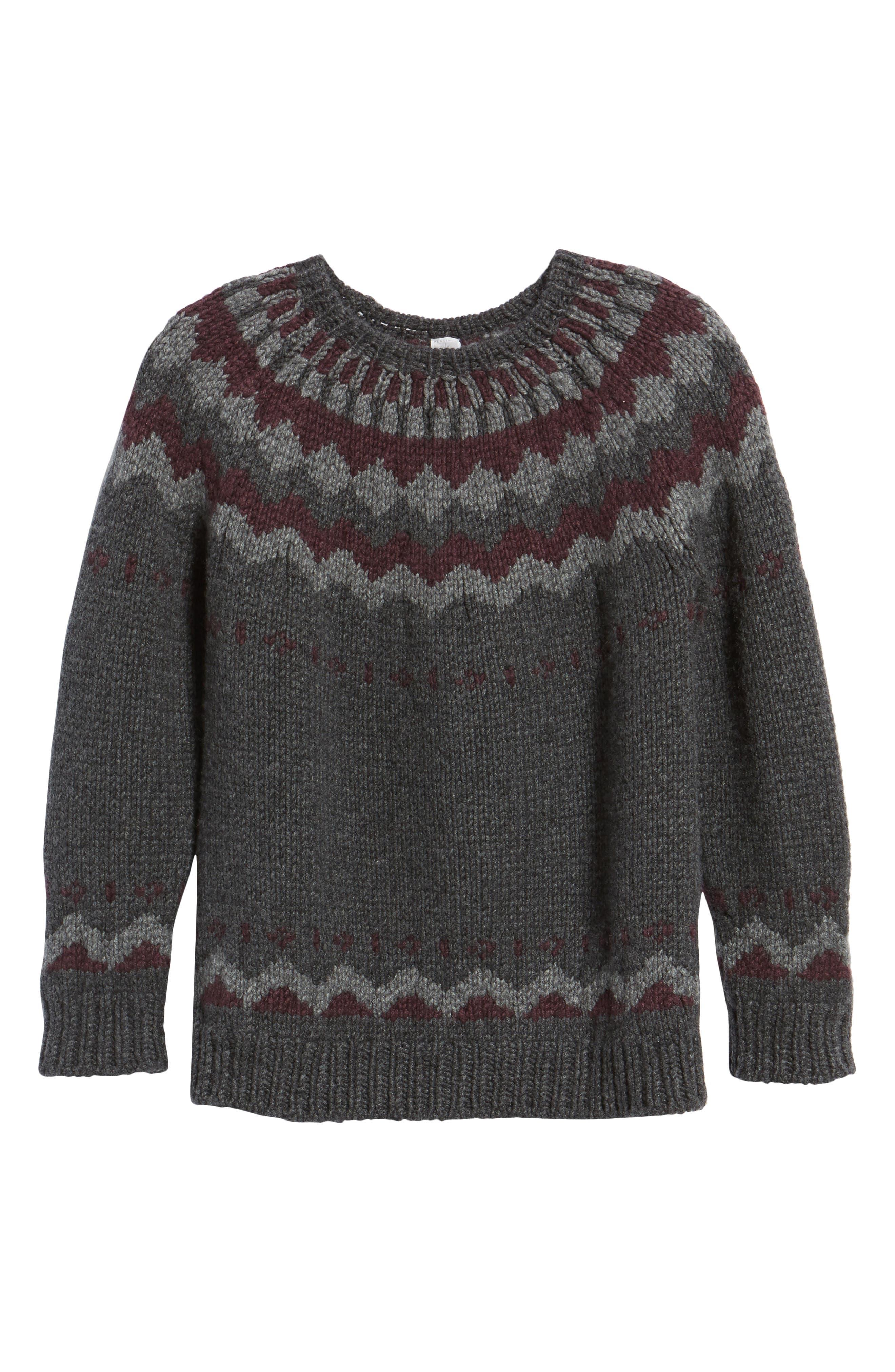 Intarsia Cashmere Sweater,                             Alternate thumbnail 6, color,                             035