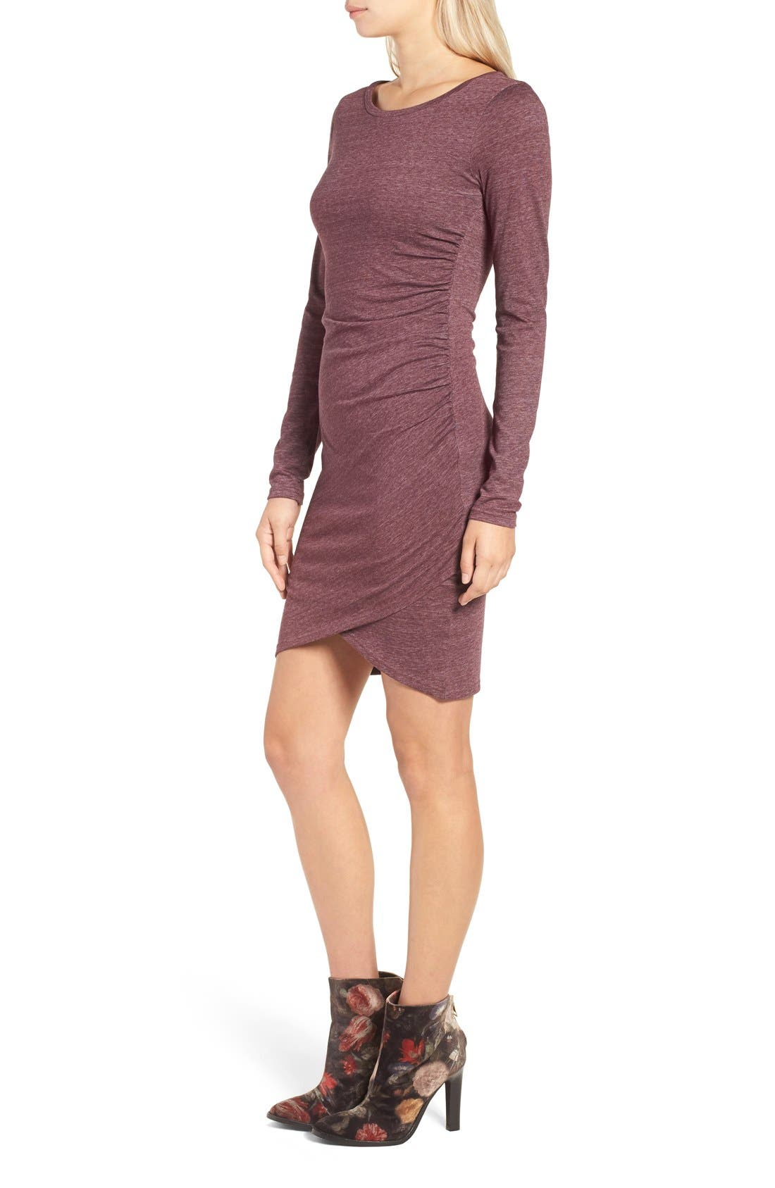 Ruched Long Sleeve Dress,                             Alternate thumbnail 107, color,