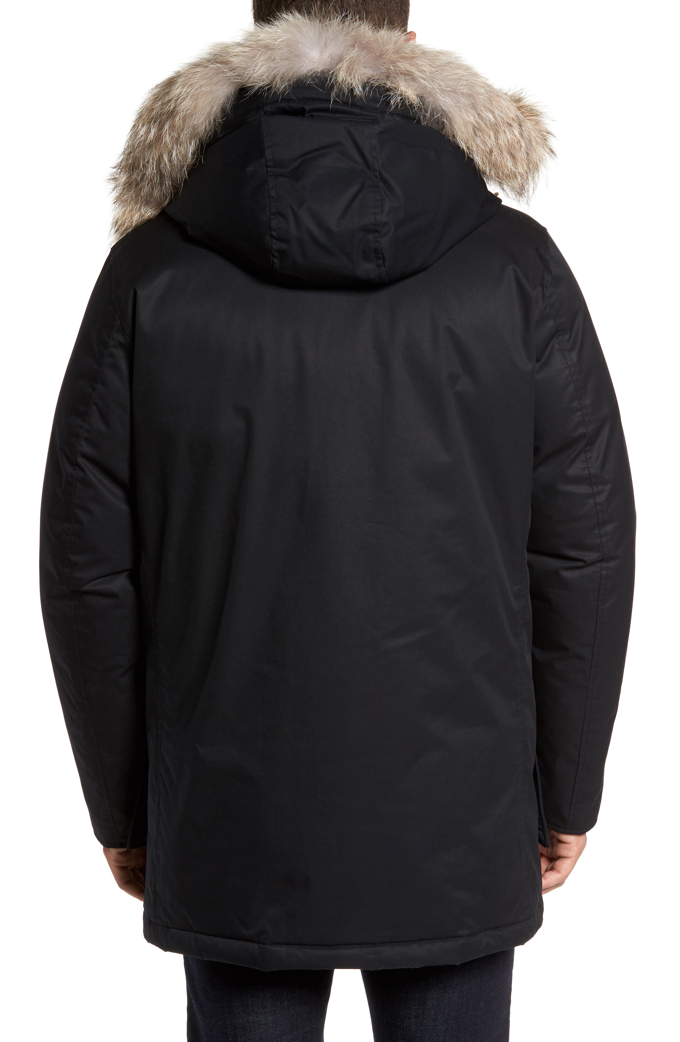 John Rich & Bros. Laminated Cotton Down Parka with Genuine Coyote Fur Trim,                             Alternate thumbnail 3, color,