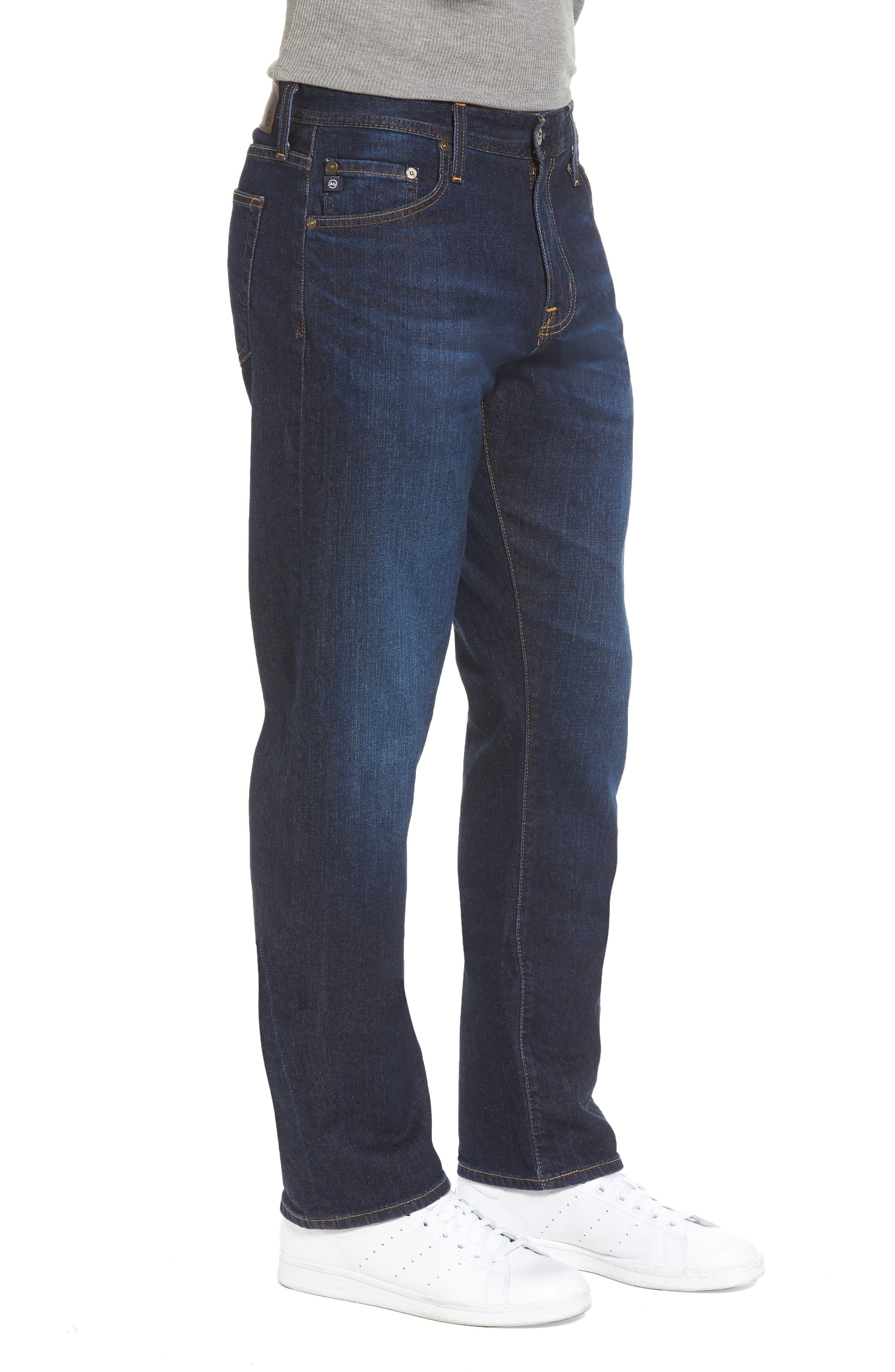 Ives Straight Fit Jeans,                             Alternate thumbnail 3, color,                             400