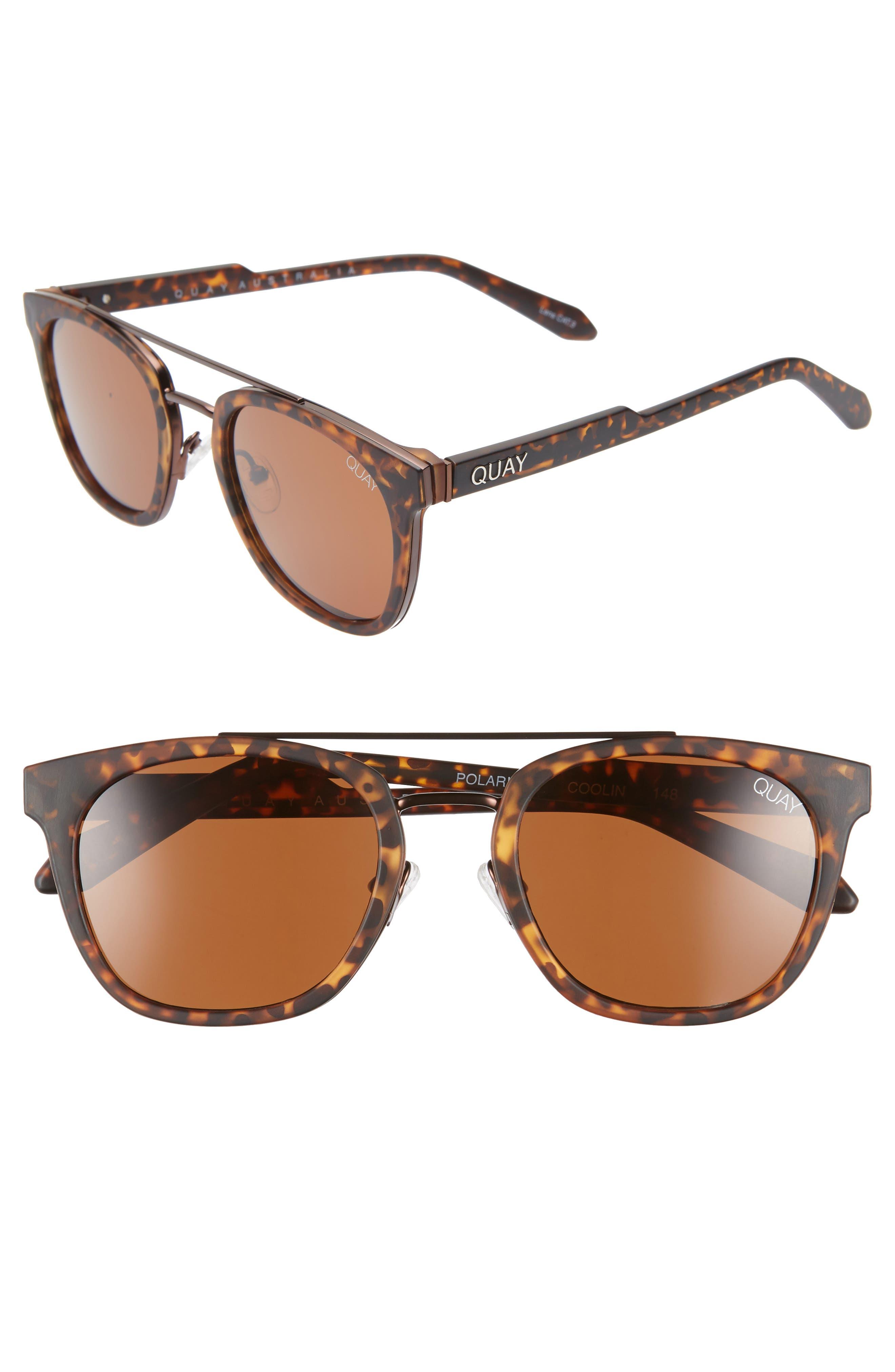 Quay Australia Coolin 51Mm Polarized Sunglasses - Tortoise/ Brown