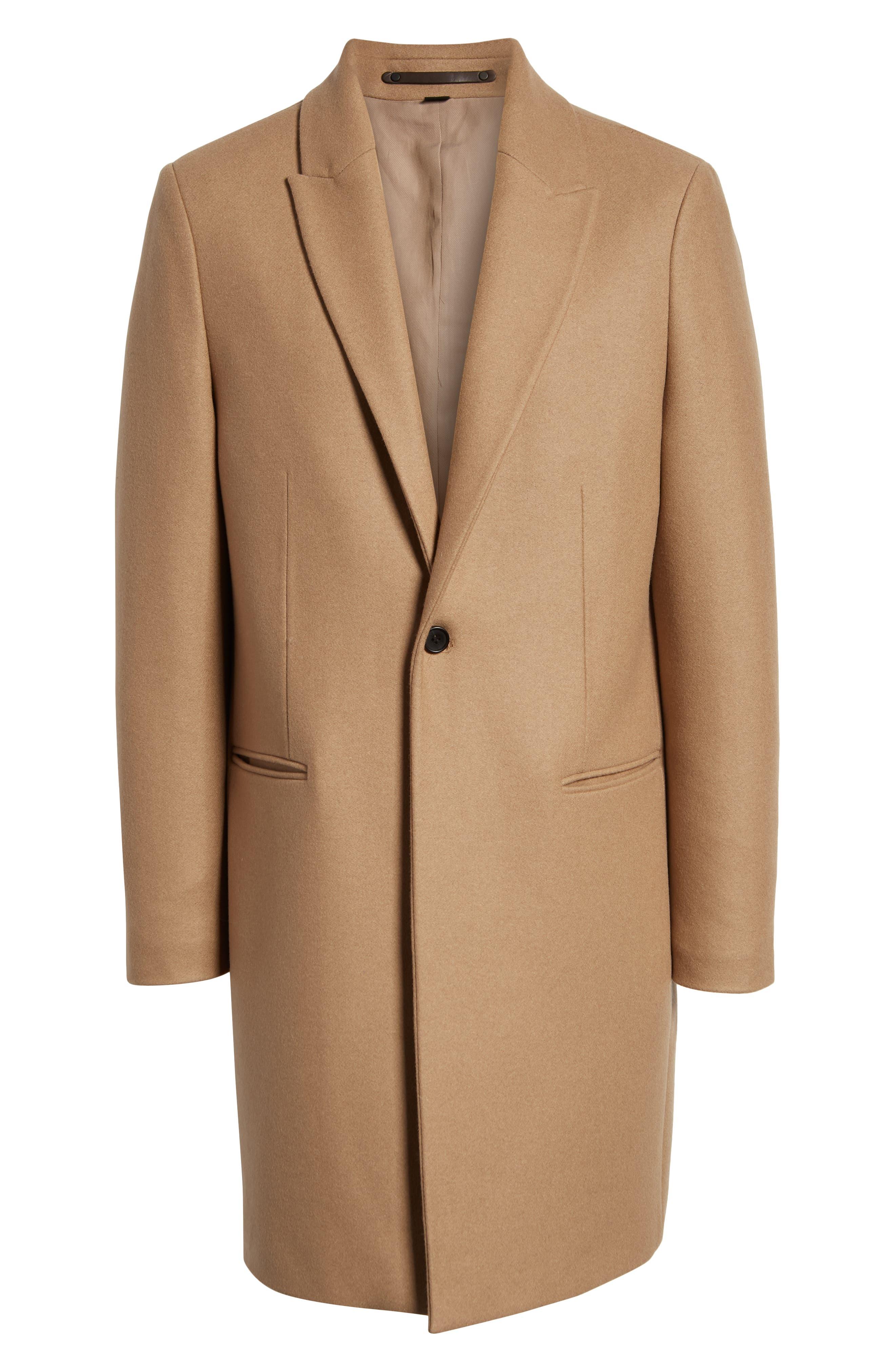 Tulsen Regular Fit Wool Topcoat,                             Alternate thumbnail 5, color,                             200