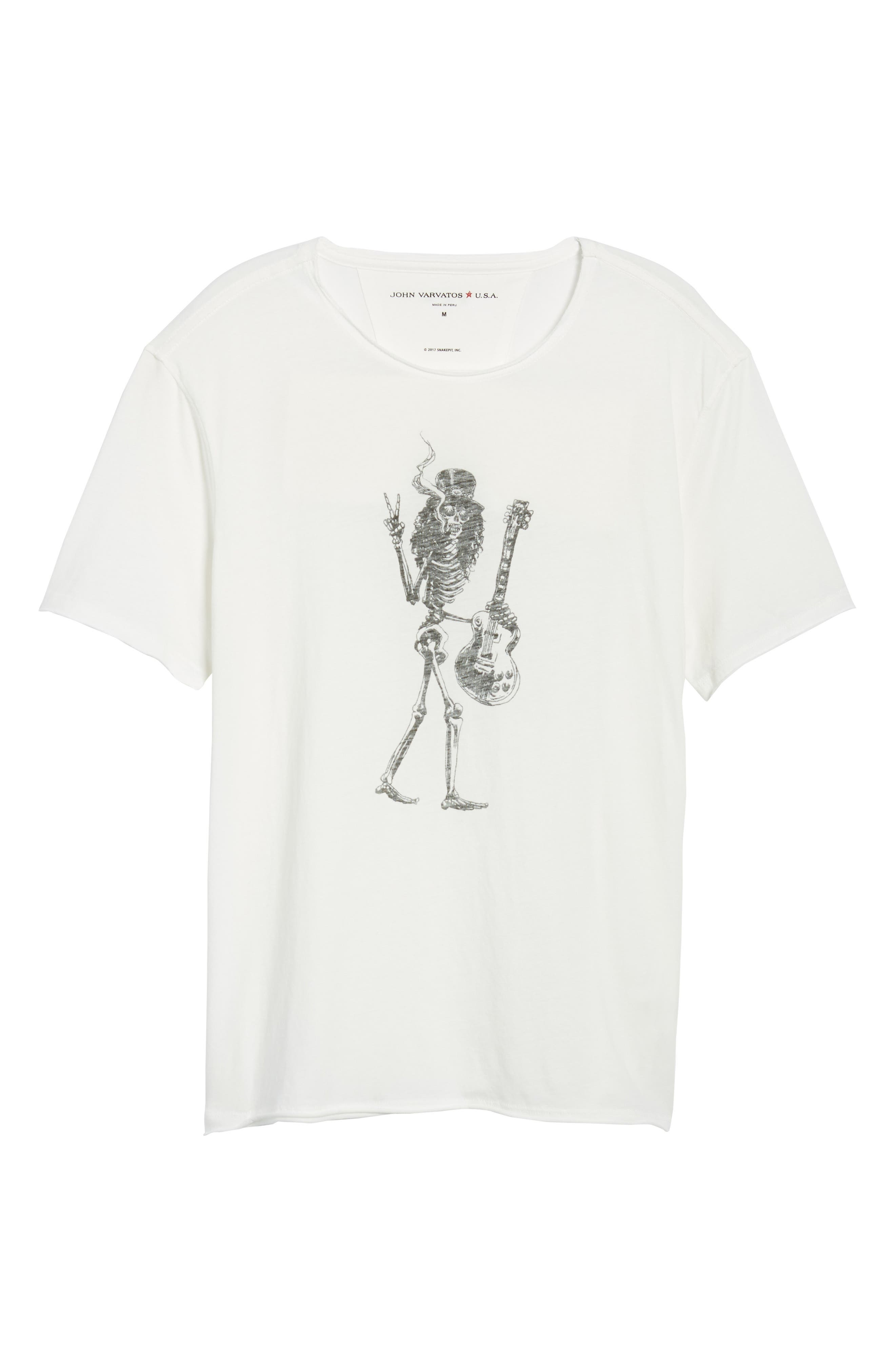 Slash Crewneck T-Shirt,                             Alternate thumbnail 6, color,                             SALT