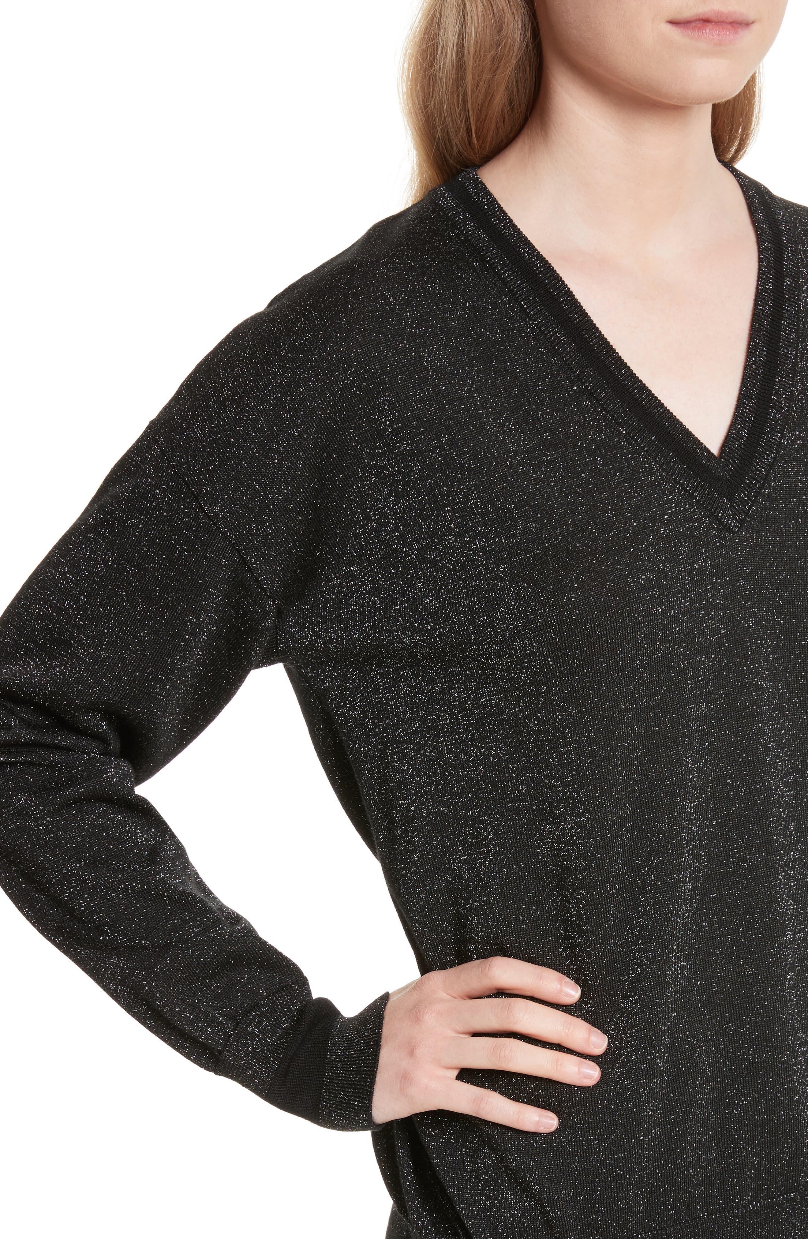 Lucinda V-Neck Sweater,                             Alternate thumbnail 4, color,