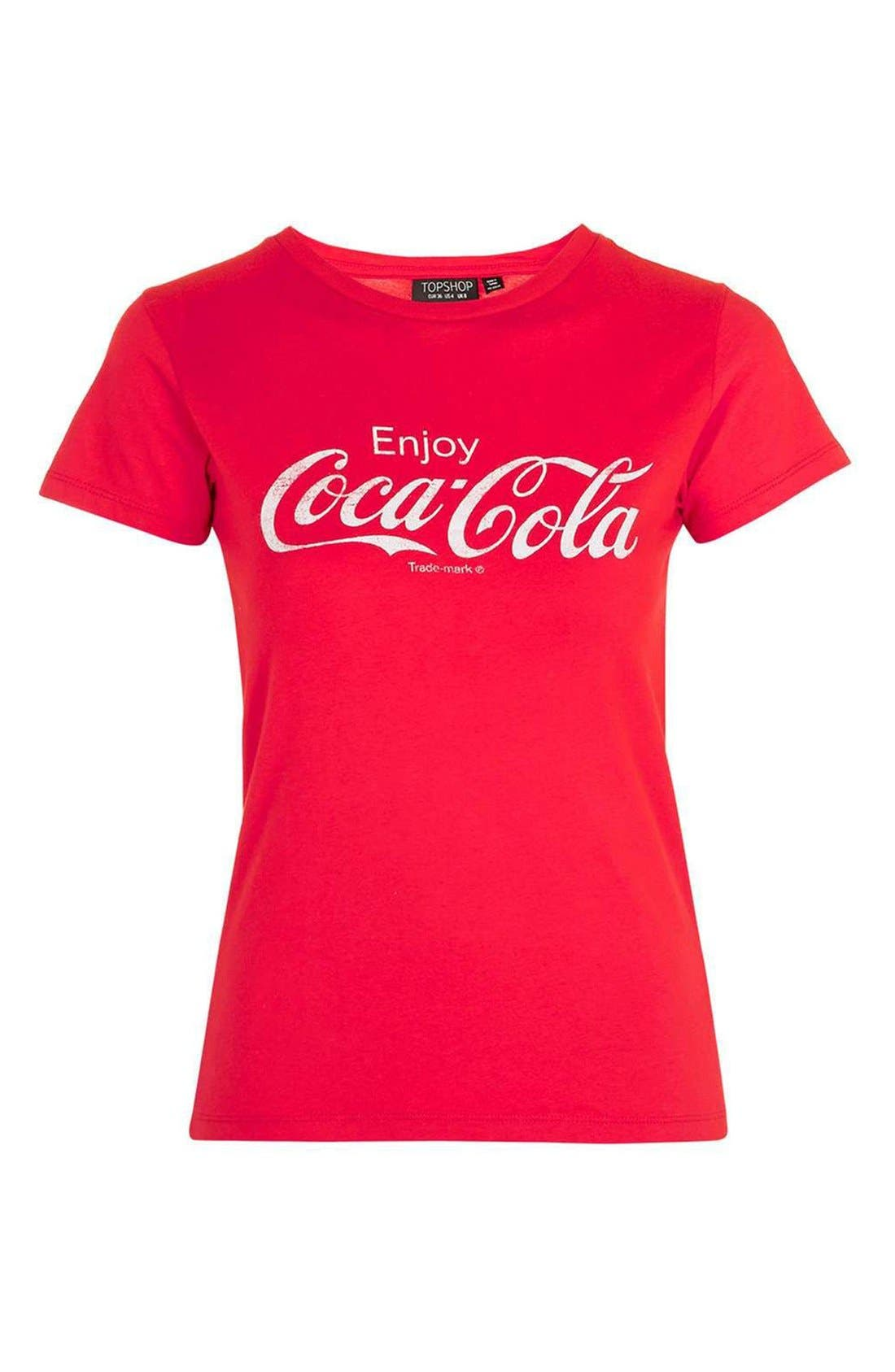 'Coca Cola' Graphic Tee,                             Alternate thumbnail 4, color,                             600