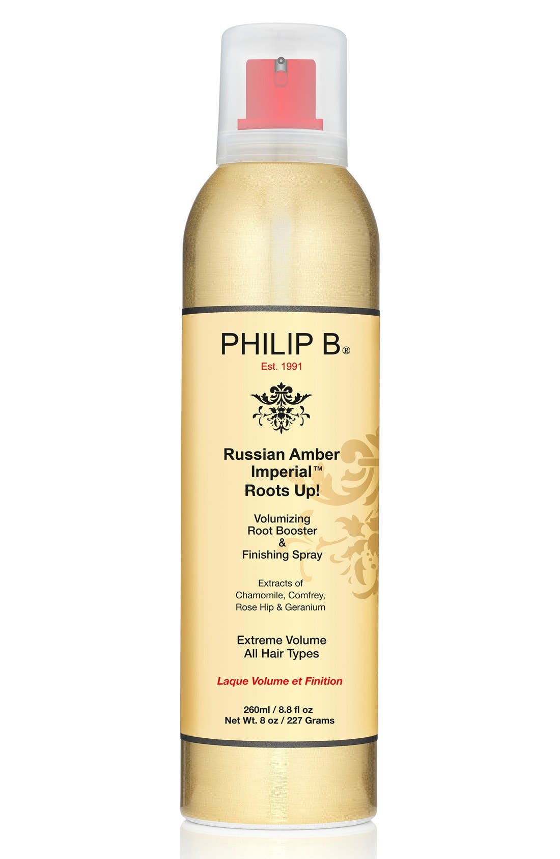 SPACE.NK.apothecary PHILIP B<sup>®</sup> Russian Amber Imperial<sup>™</sup> Volumizing Root Booster & Finishing Spray,                         Main,                         color, NO COLOR