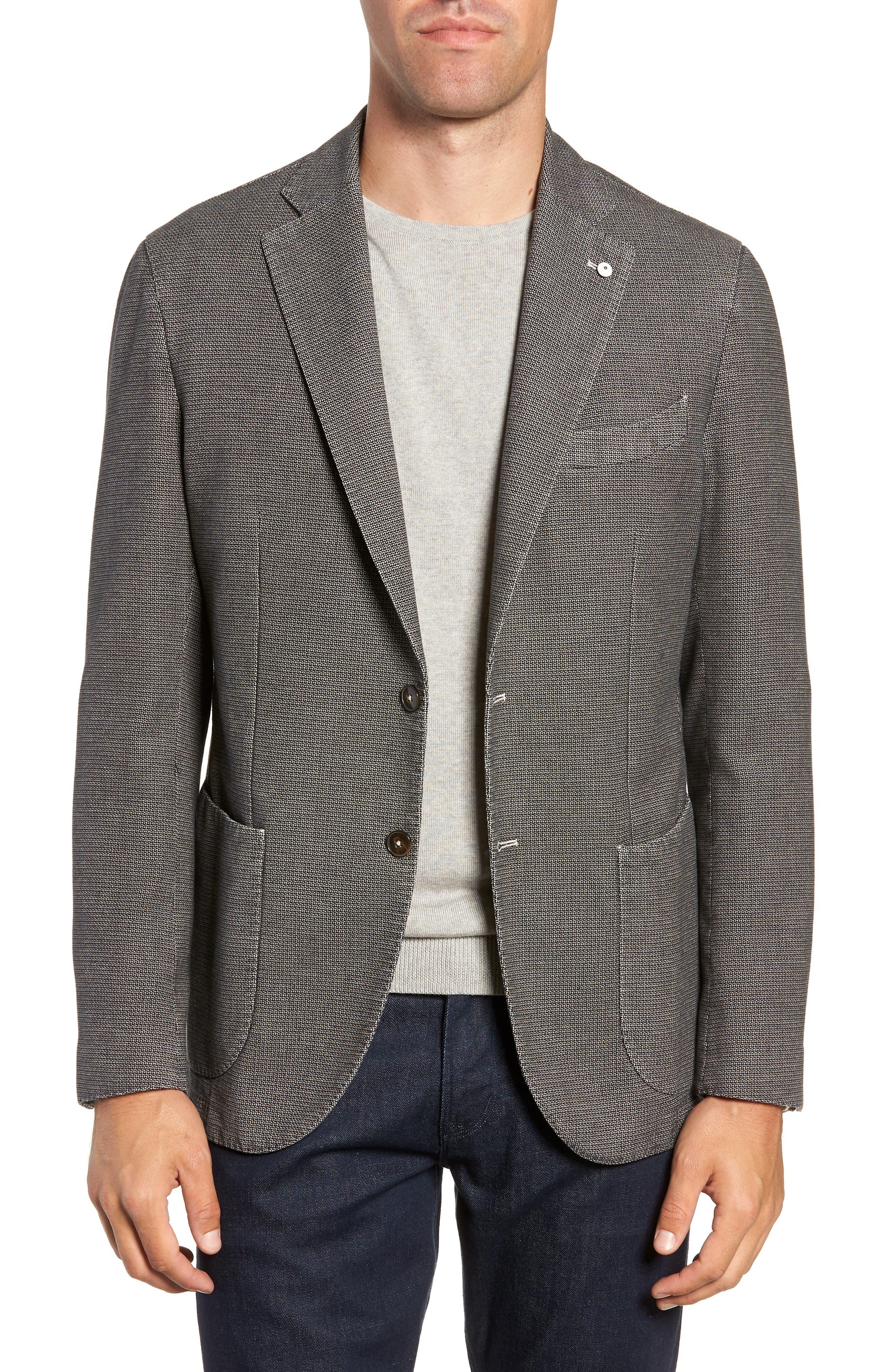 L.B.M 1911 Classic Fit Cotton Blazer,                         Main,                         color, TAUPE