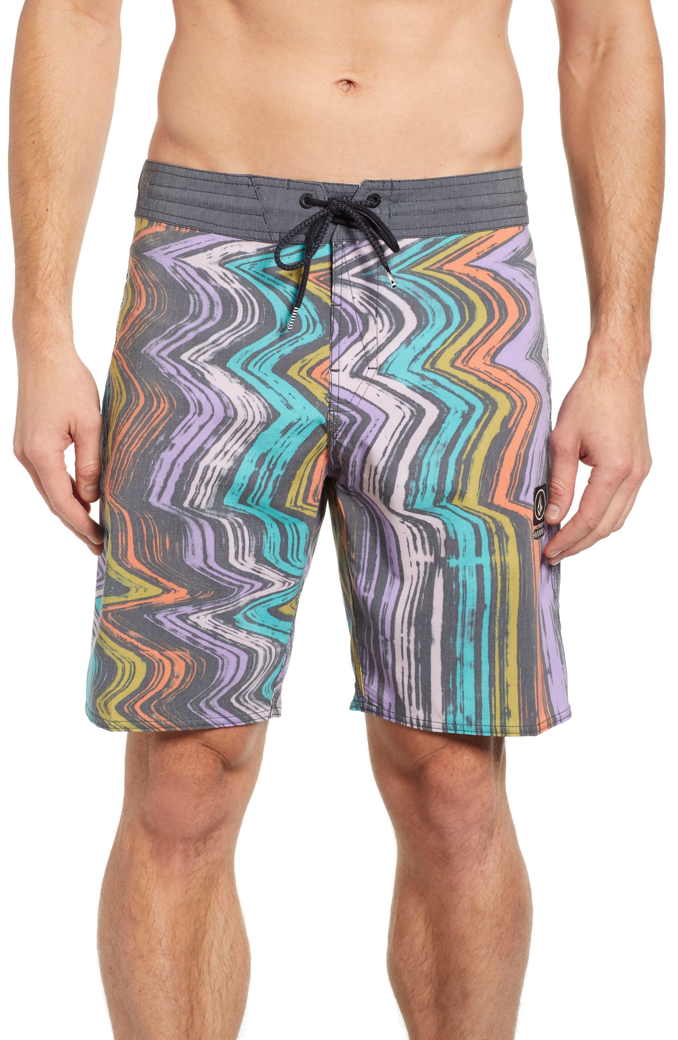 Lo-Fi Stoney Board Shorts,                             Main thumbnail 1, color,                             ASPHALT BLACK