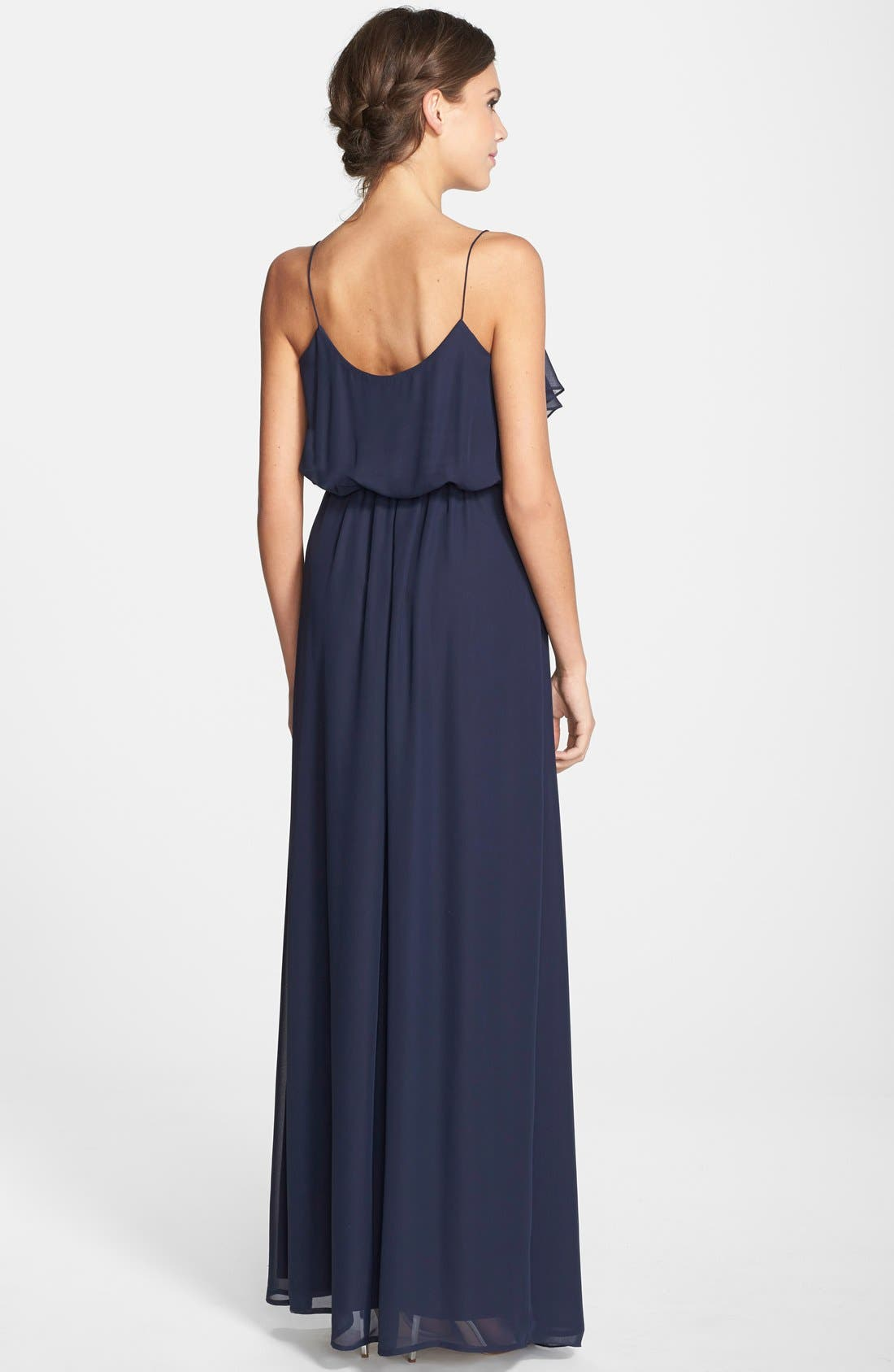 'Drew' Ruffle Front Chiffon Gown,                             Alternate thumbnail 21, color,