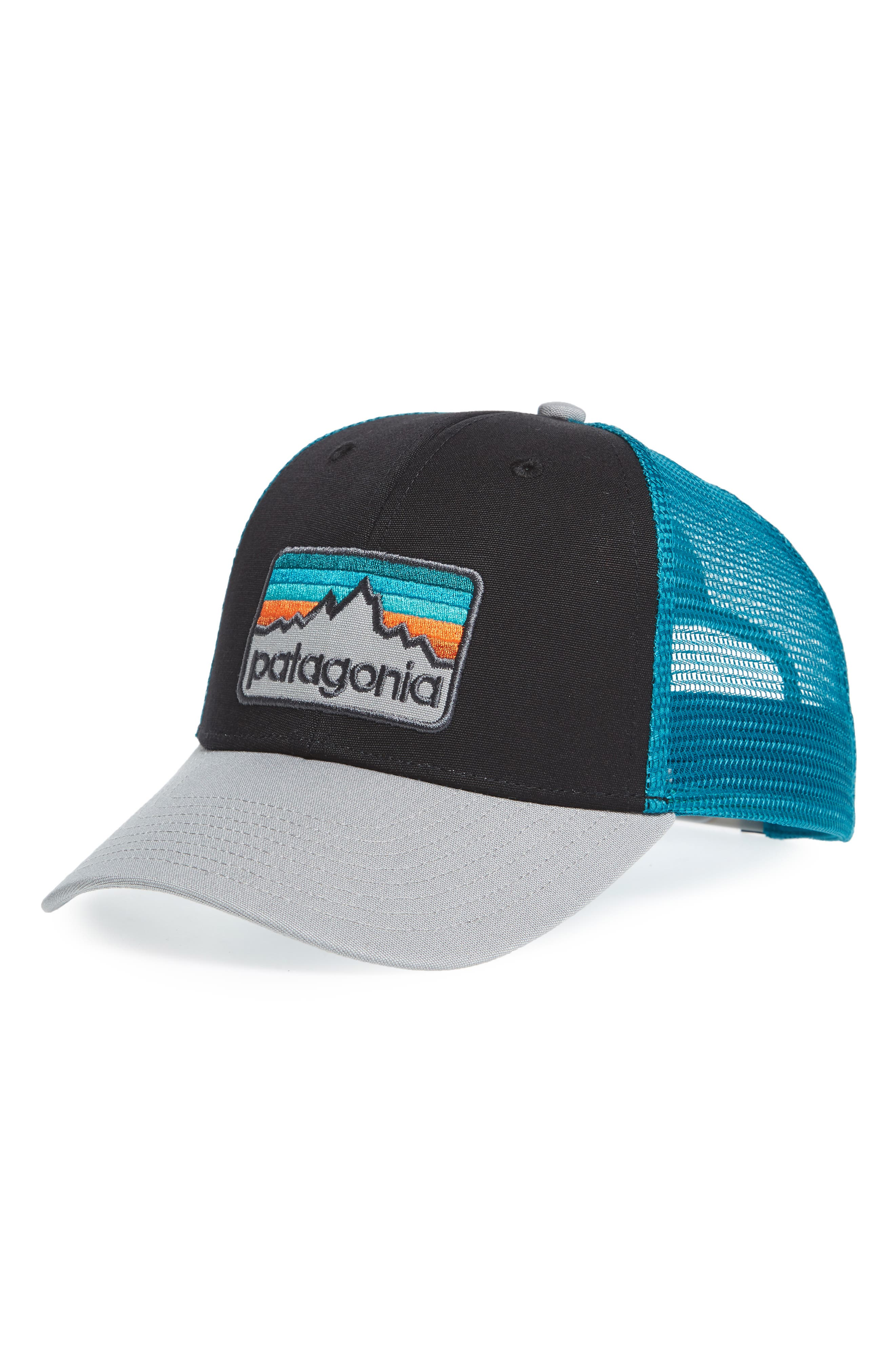 Logo Badge Trucker Hat,                             Main thumbnail 1, color,                             001