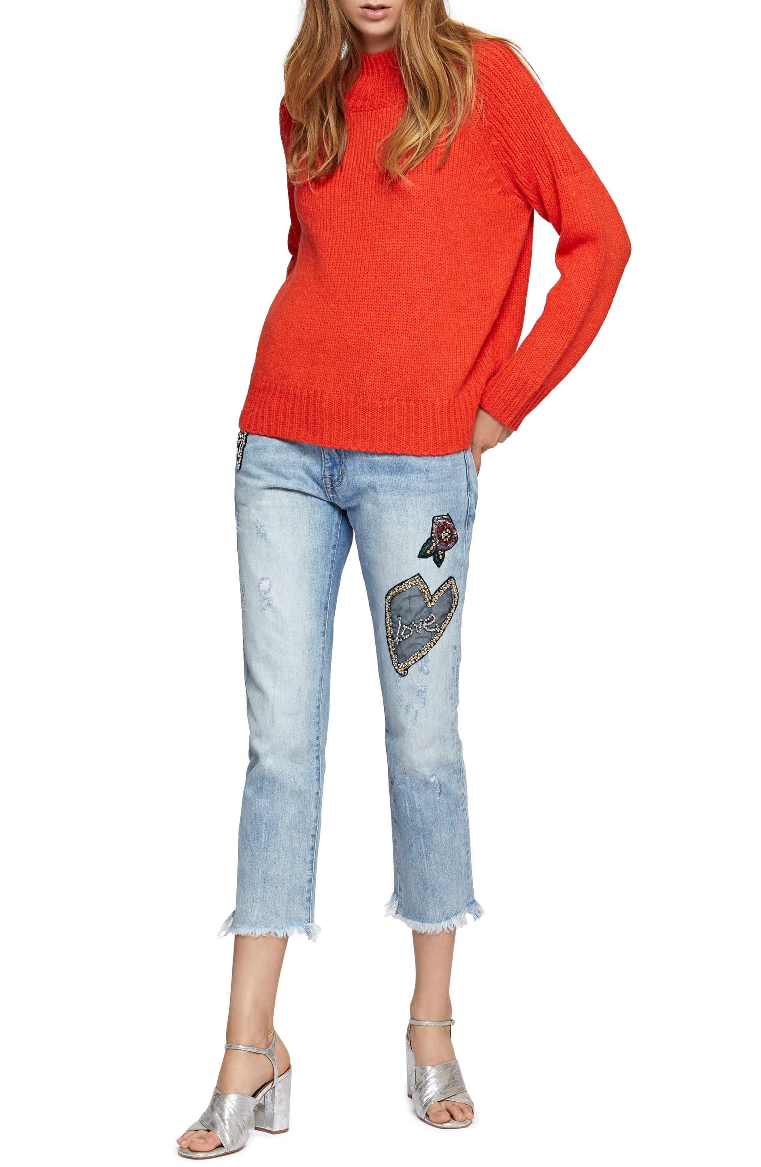 Heartbreaker Patched Slim Boyfriend Jeans,                             Alternate thumbnail 3, color,