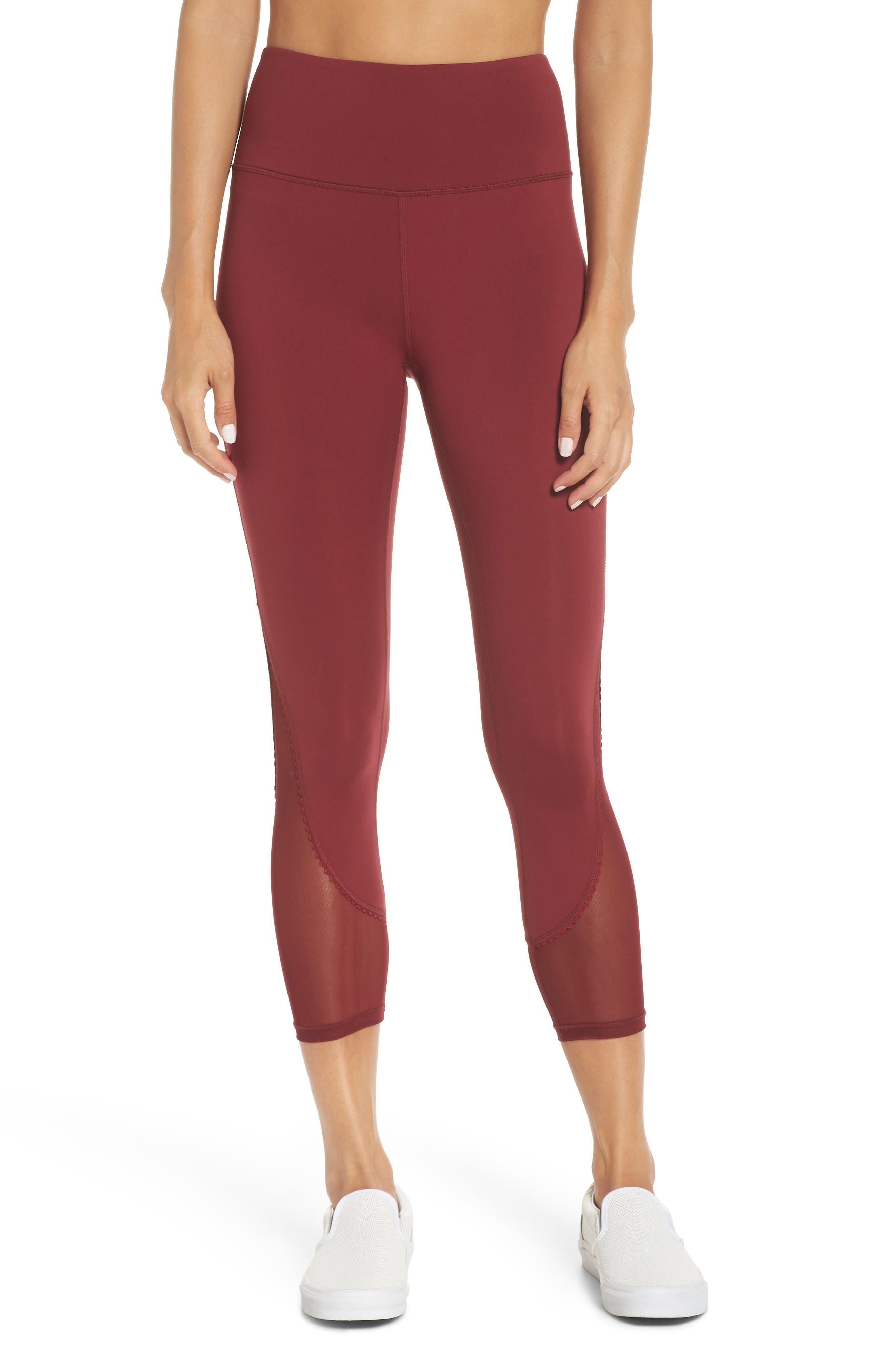Kate Spade New York Micro Mesh Leggings, Red