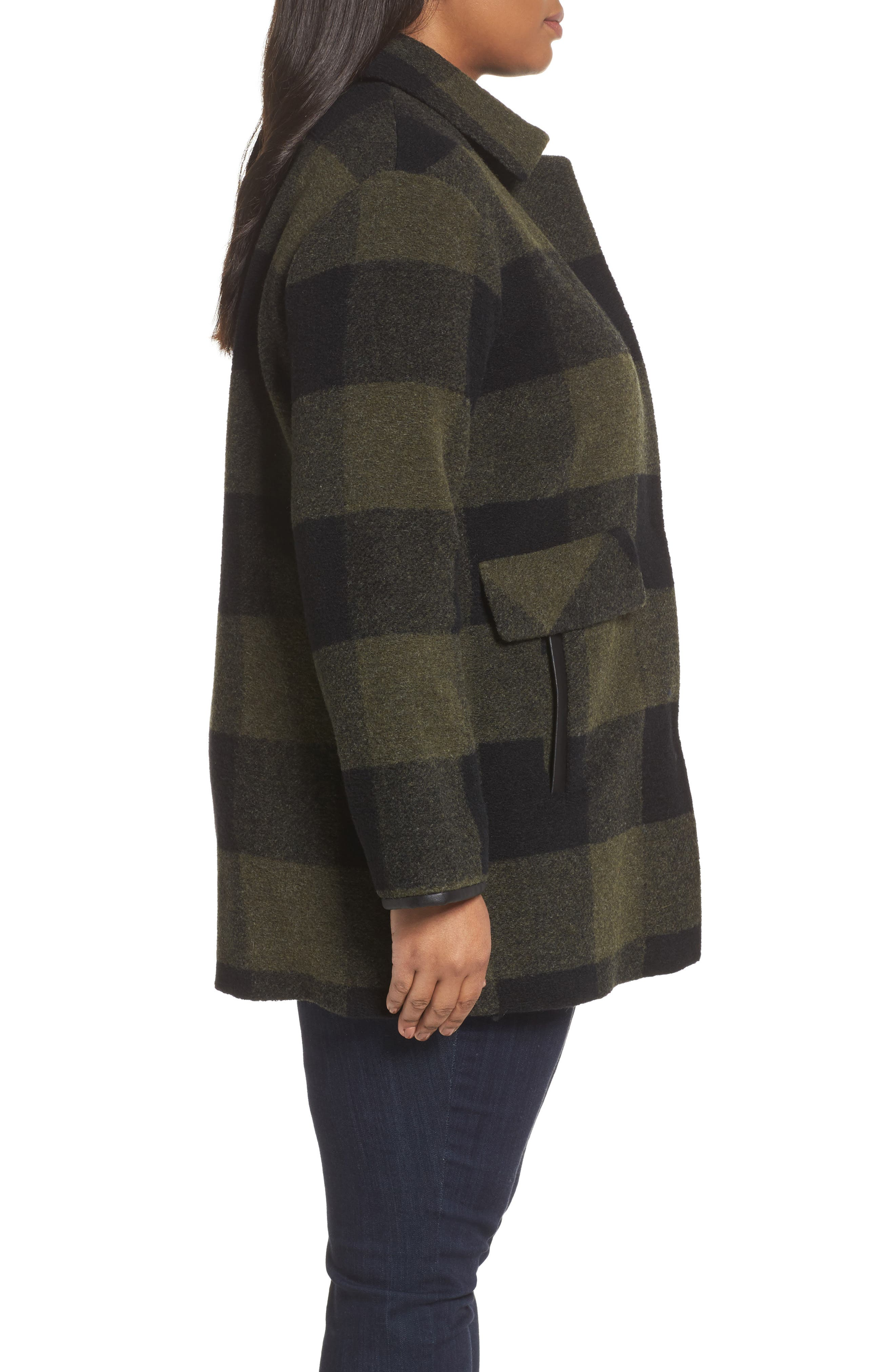 Paul Bunyan Plaid Wool Blend Barn Coat,                             Alternate thumbnail 5, color,