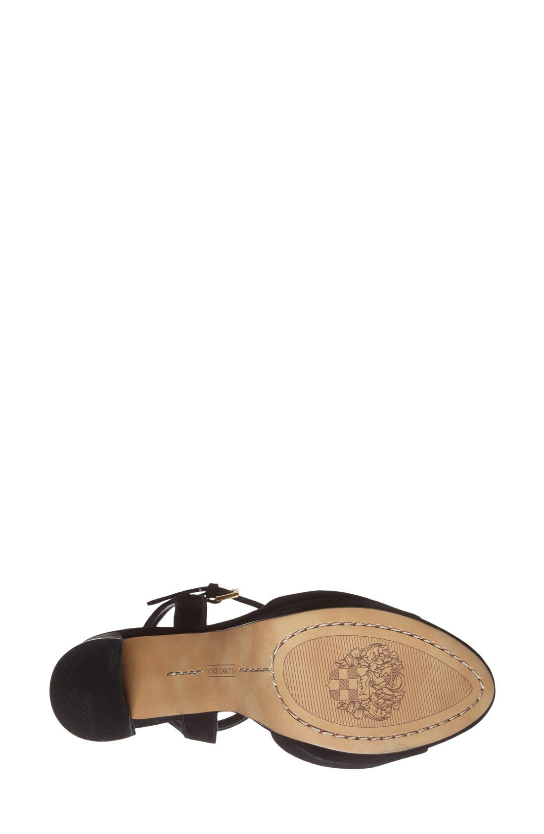 'Krysta' Platform Sandal,                             Alternate thumbnail 4, color,                             001