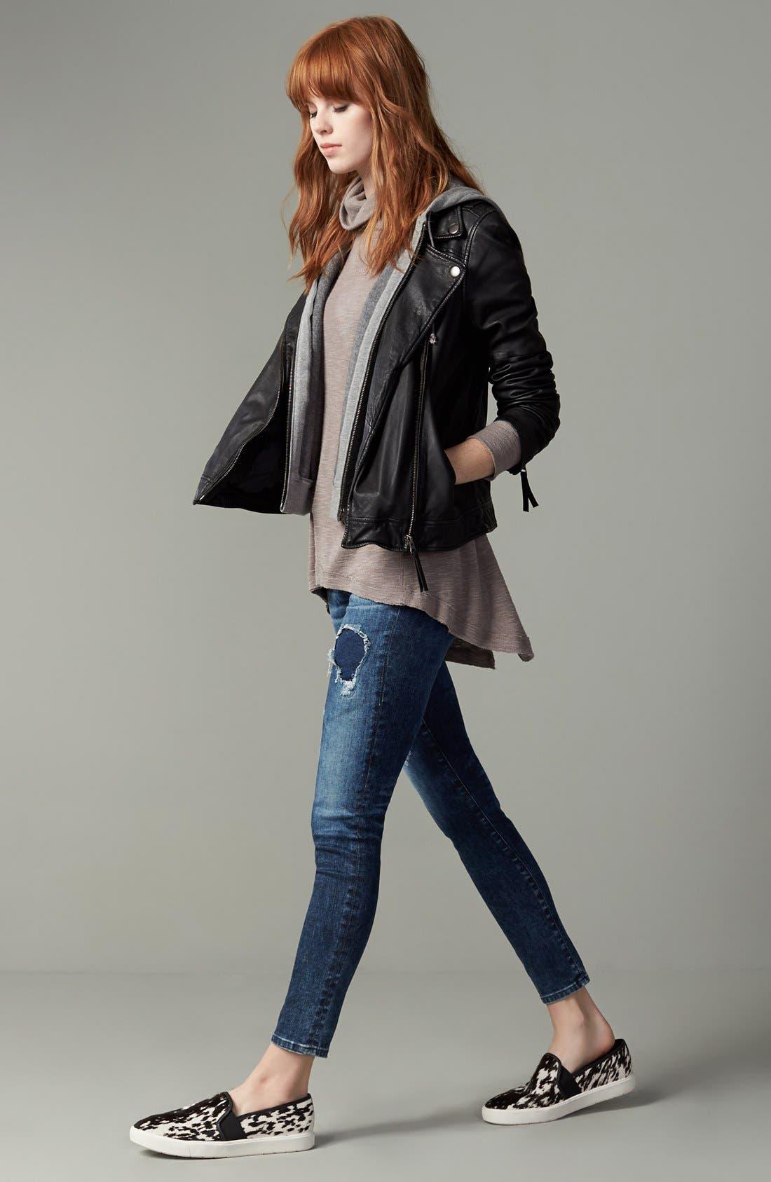 Transcend - Hoxton High Waist Ankle Ultra Skinny Jeans,                             Alternate thumbnail 6, color,                             HARTMANN