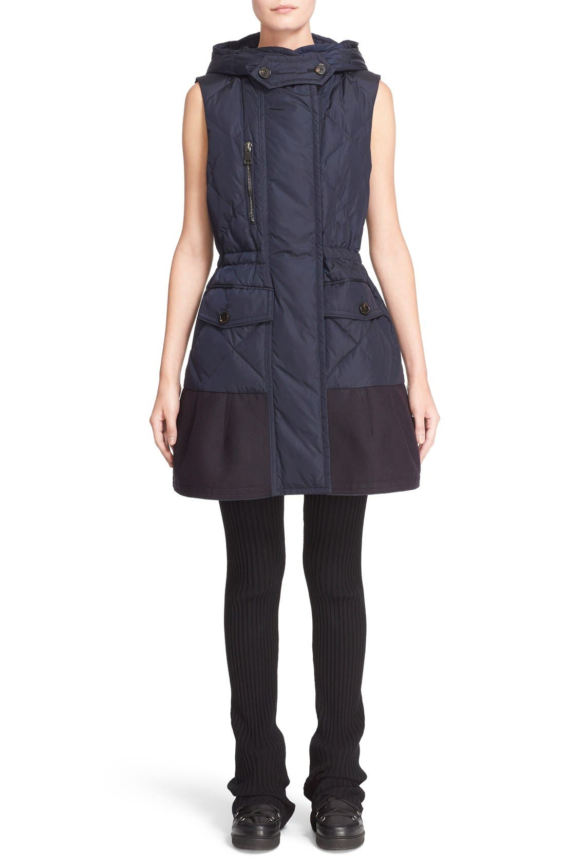 'Eles' Water Resistant Quilted Hooded Down Vest,                             Alternate thumbnail 12, color,                             419