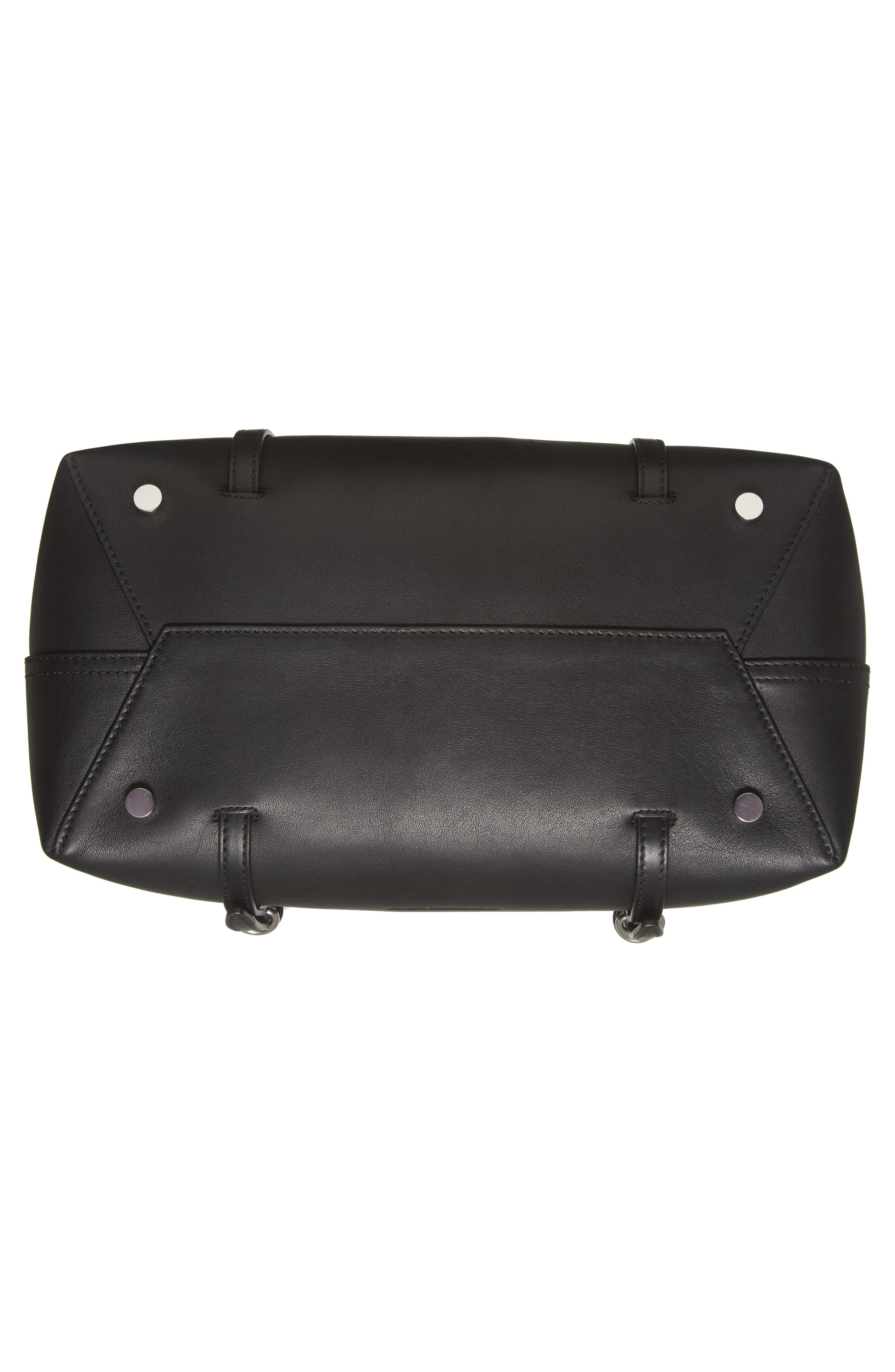 Ace Leather Tote,                             Alternate thumbnail 6, color,                             BLACK