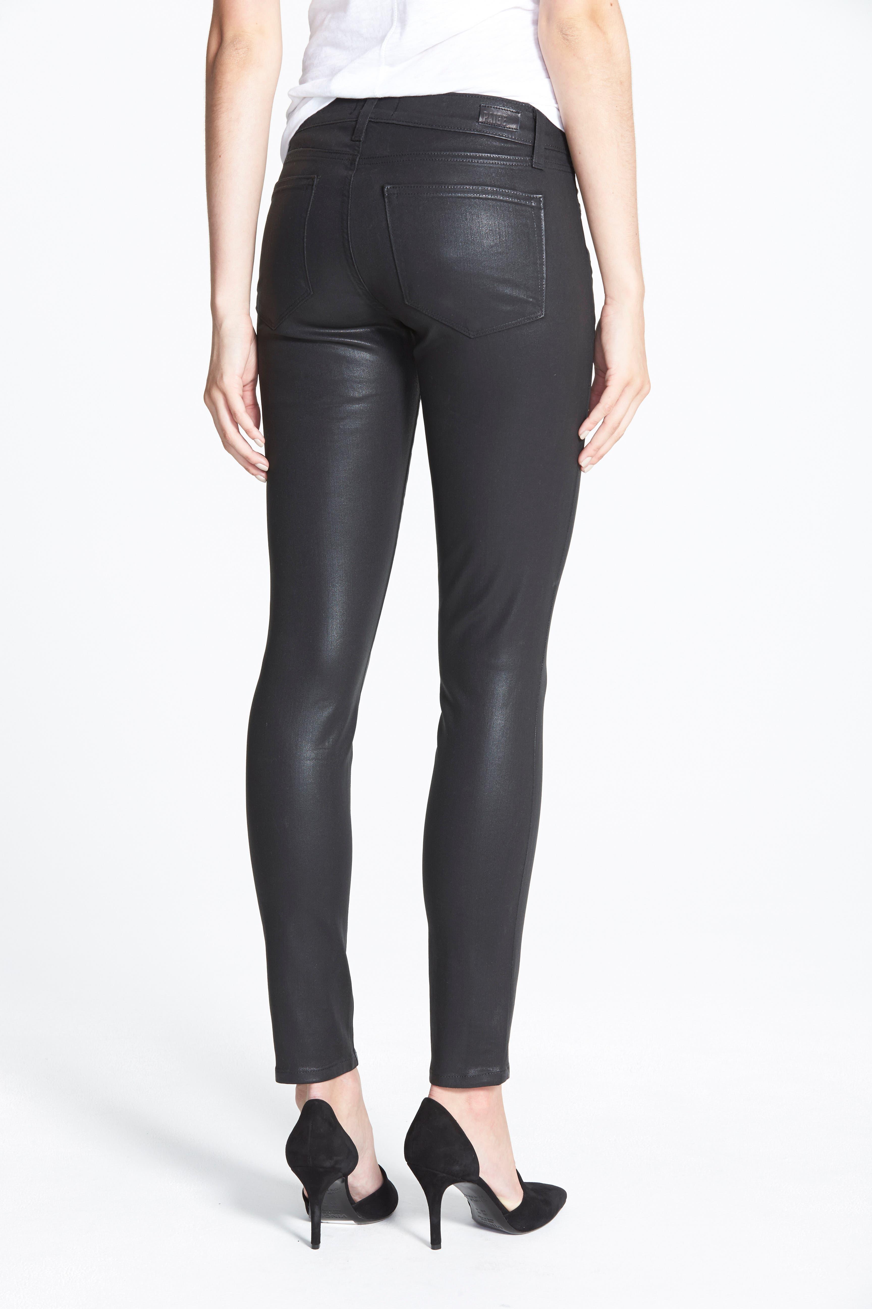 'Edgemont' Coated Ultra Skinny Jeans,                             Alternate thumbnail 3, color,                             001